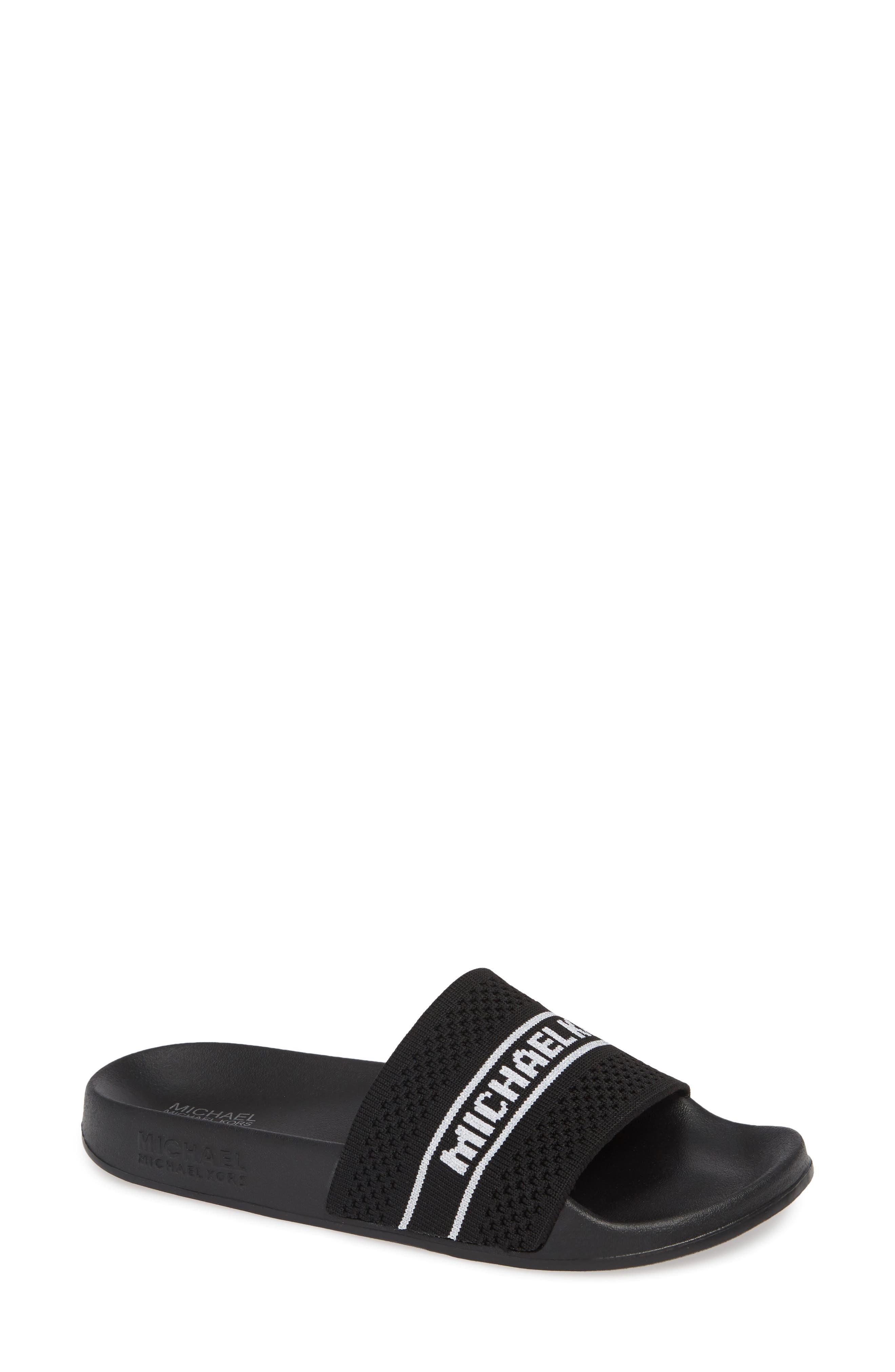 Michael Michael Kors Gilmore Slide Sandal, Black