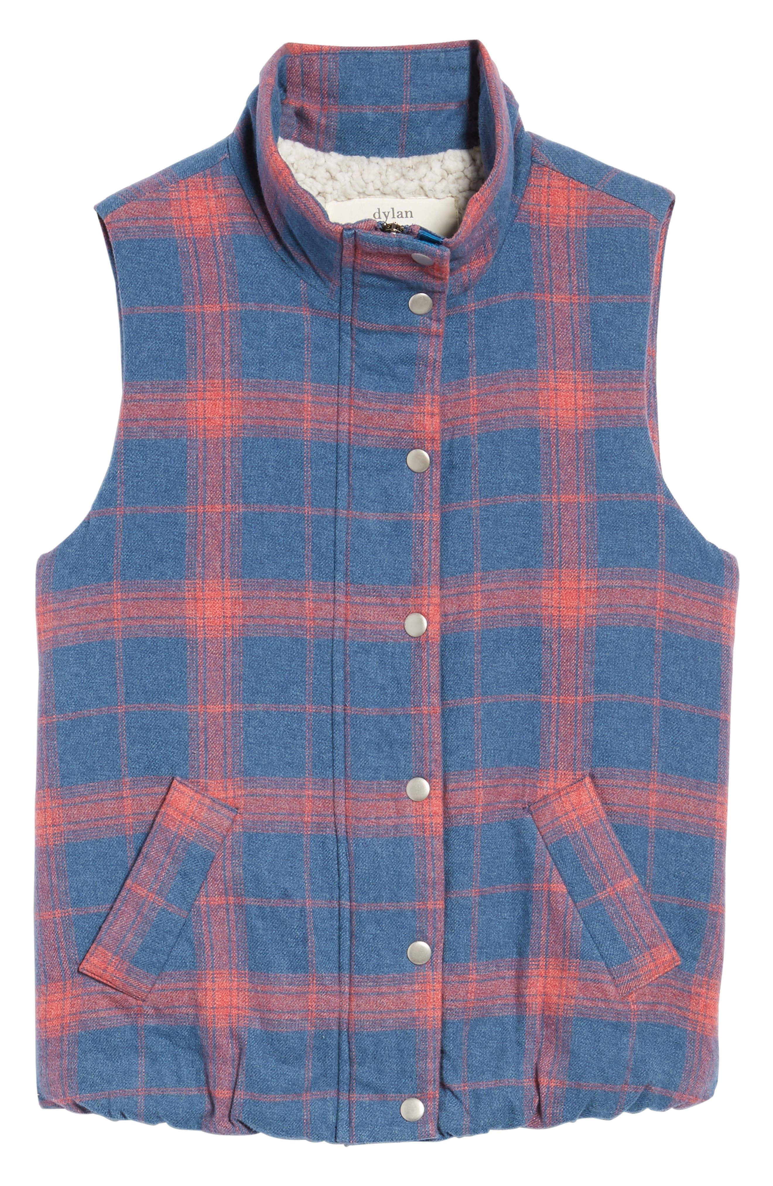 Plaid Flannel Vest,                             Alternate thumbnail 5, color,