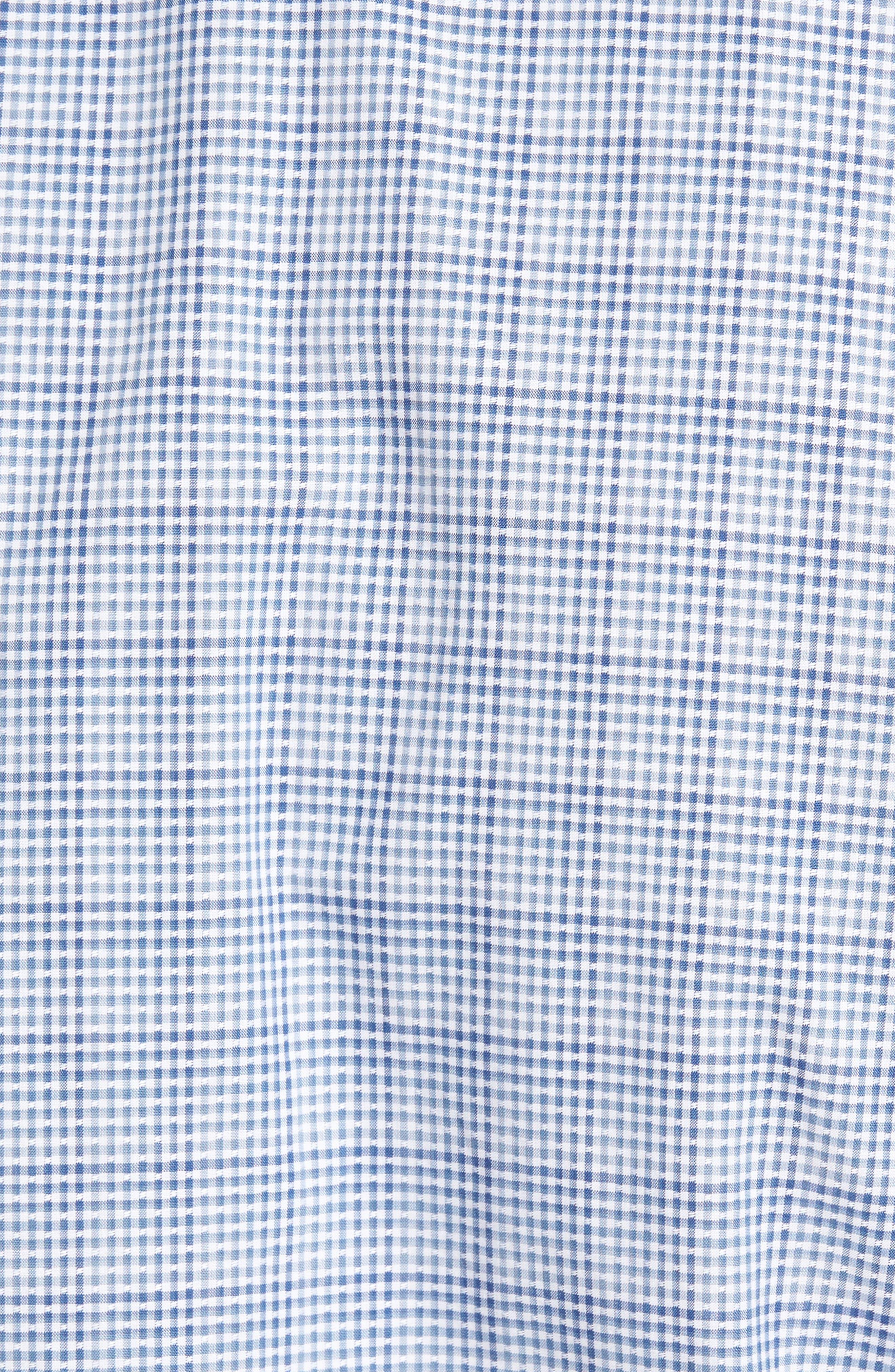 Regular Fit Dobby Check Sport Shirt,                             Alternate thumbnail 5, color,                             400