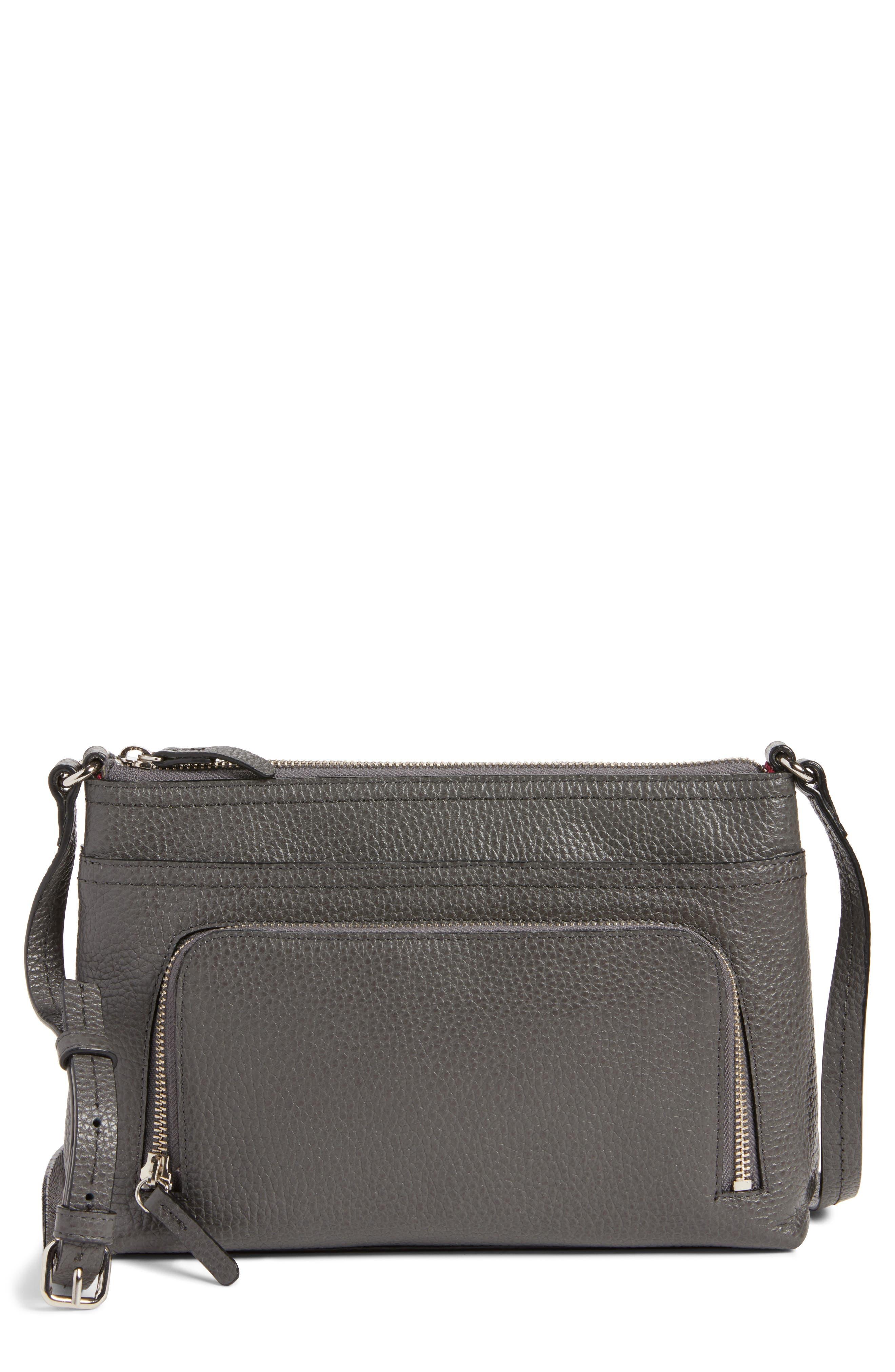 Pebbled Leather Crossbody Bag,                             Main thumbnail 2, color,