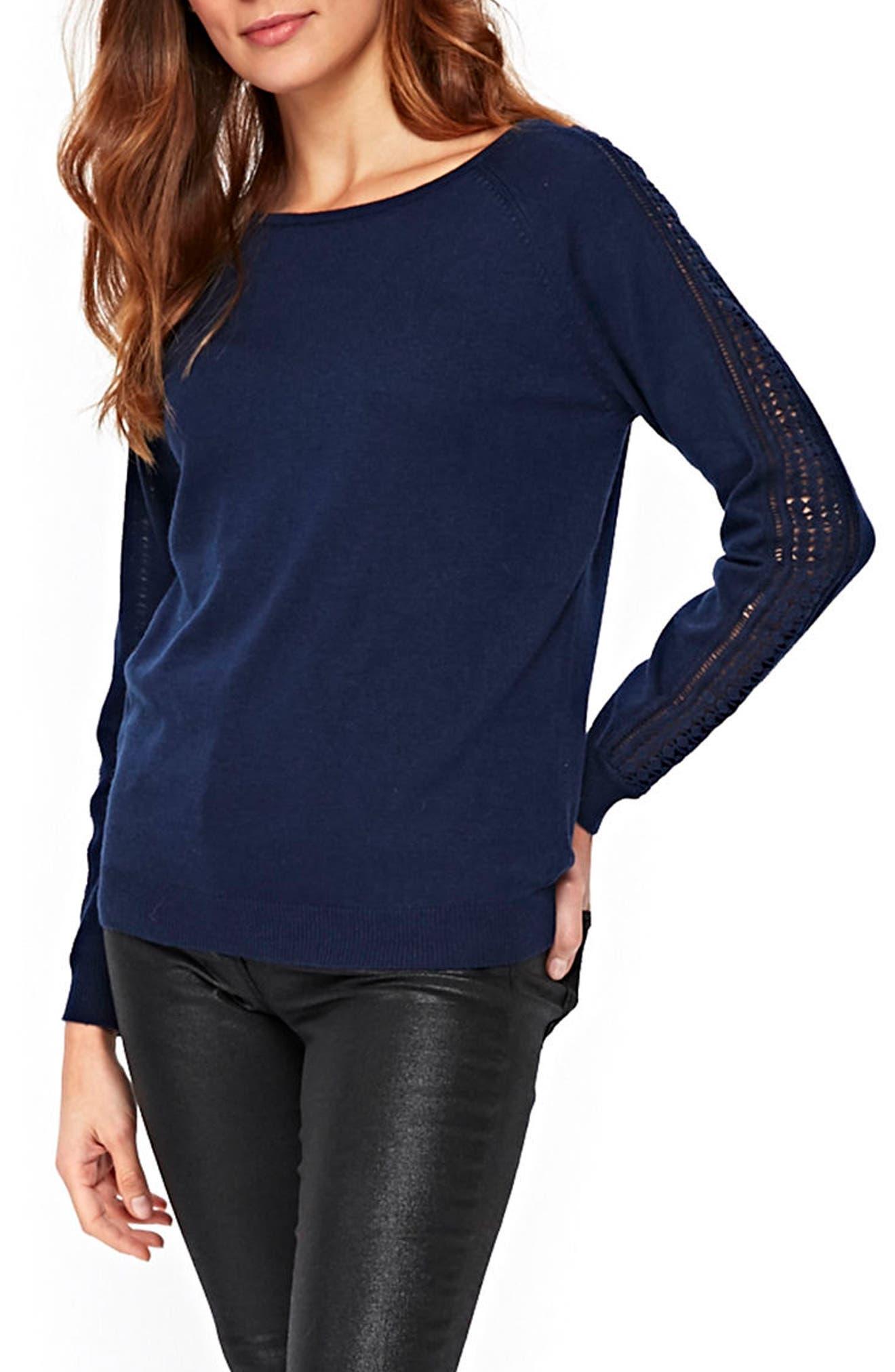 Lace Trim Sweater,                             Alternate thumbnail 3, color,                             400
