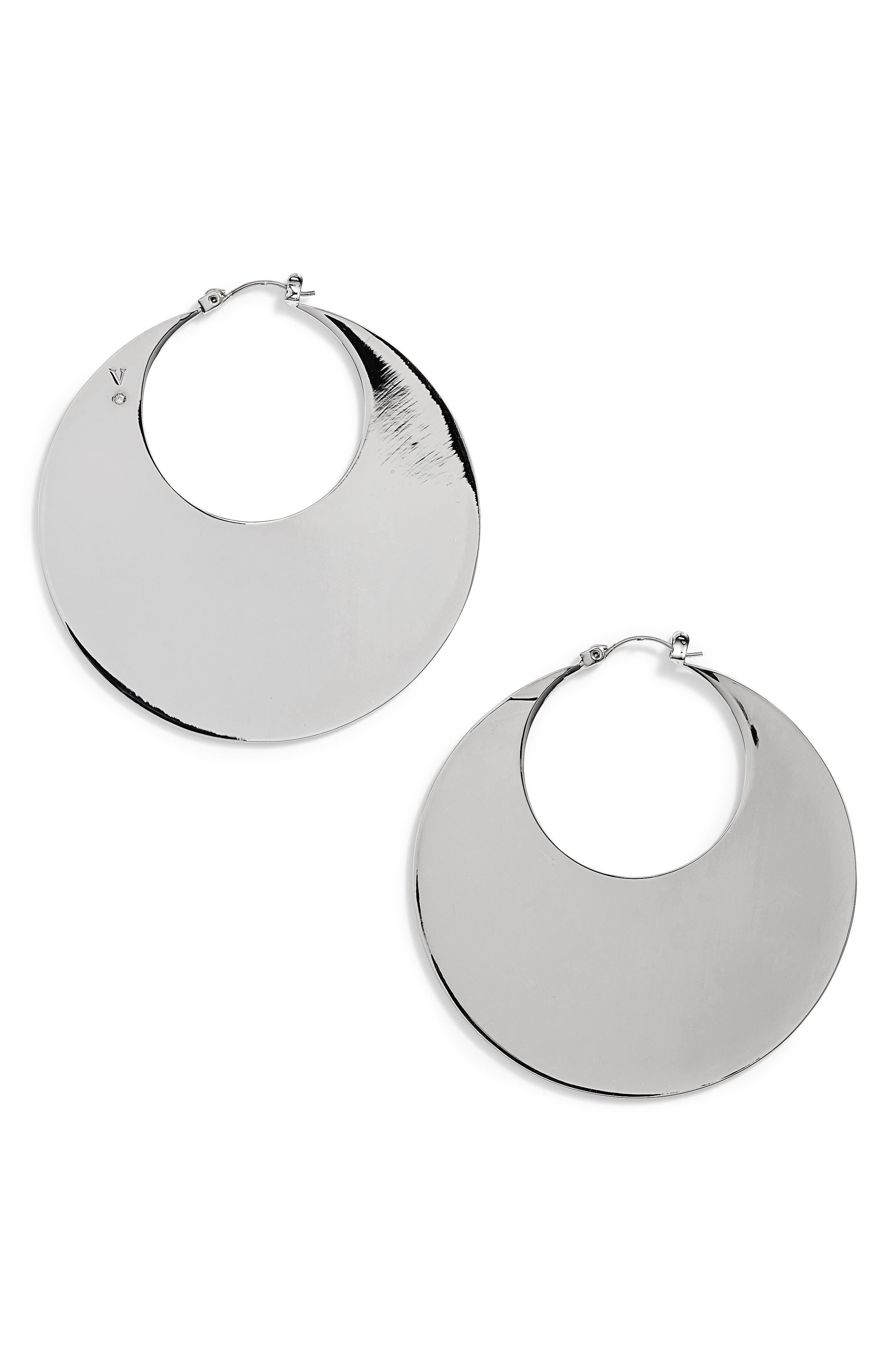 Chunky Disc Hoop Earrings,                         Main,                         color, 041