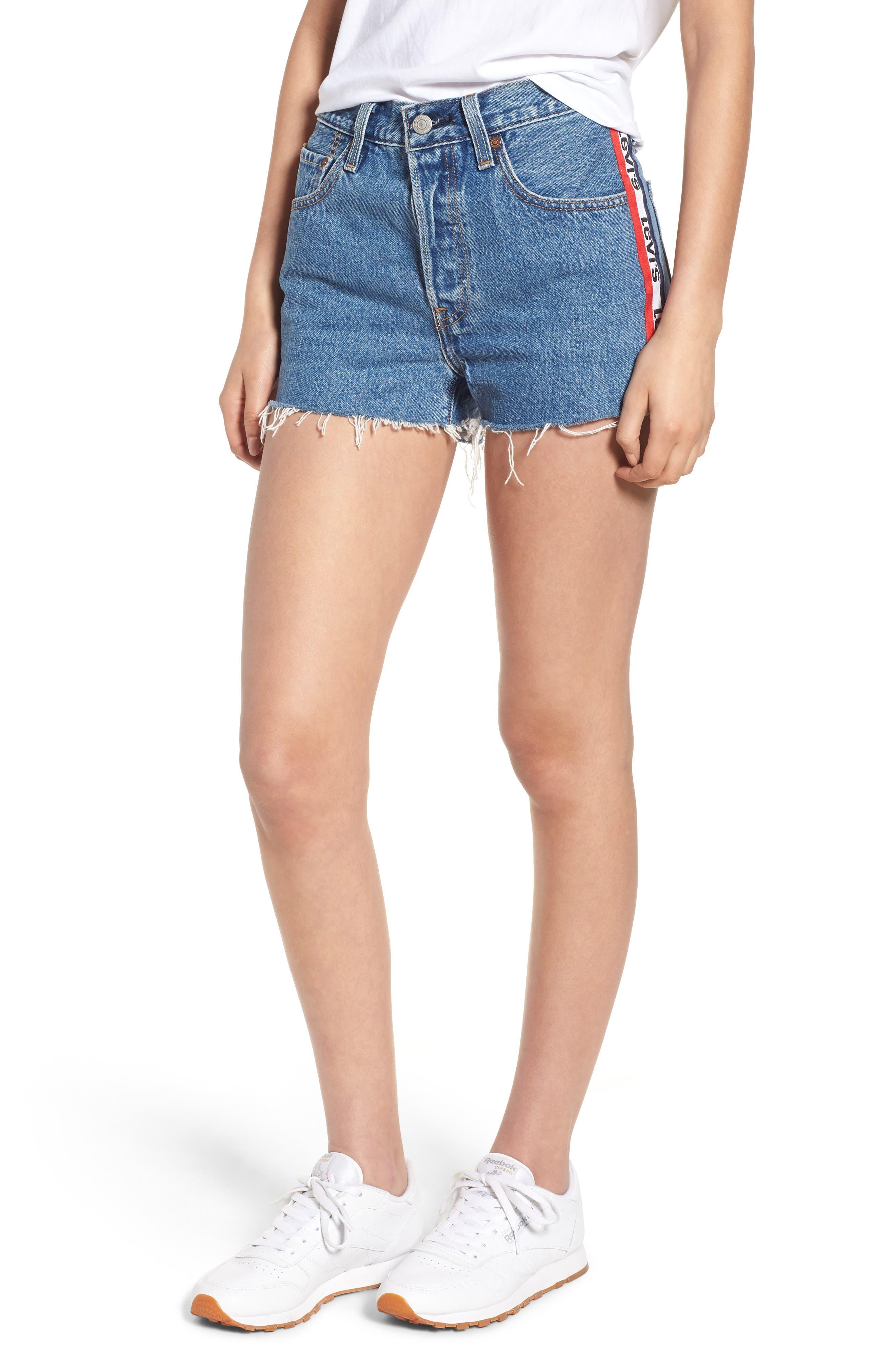 501<sup>®</sup> Cutoff Denim Shorts,                         Main,                         color, 420