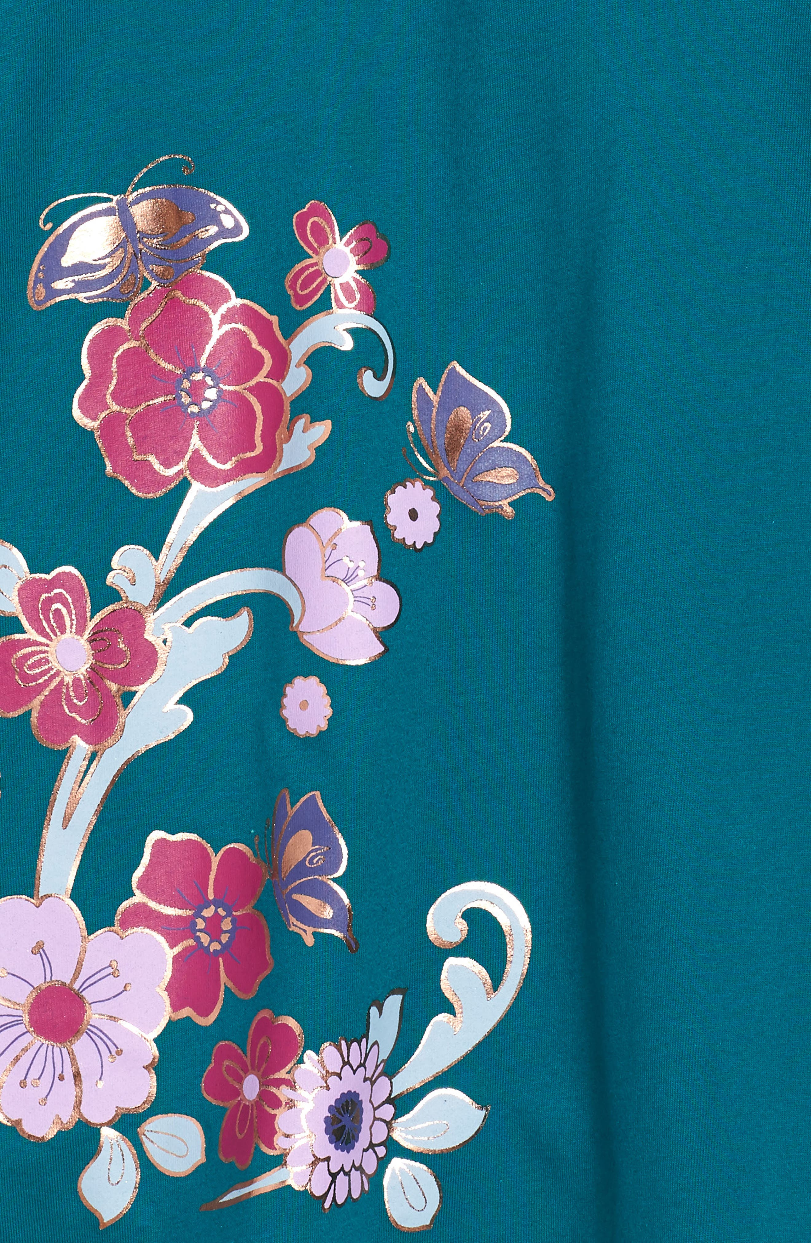 Ingram Street Print Wrap Neck Dress,                             Alternate thumbnail 3, color,                             443