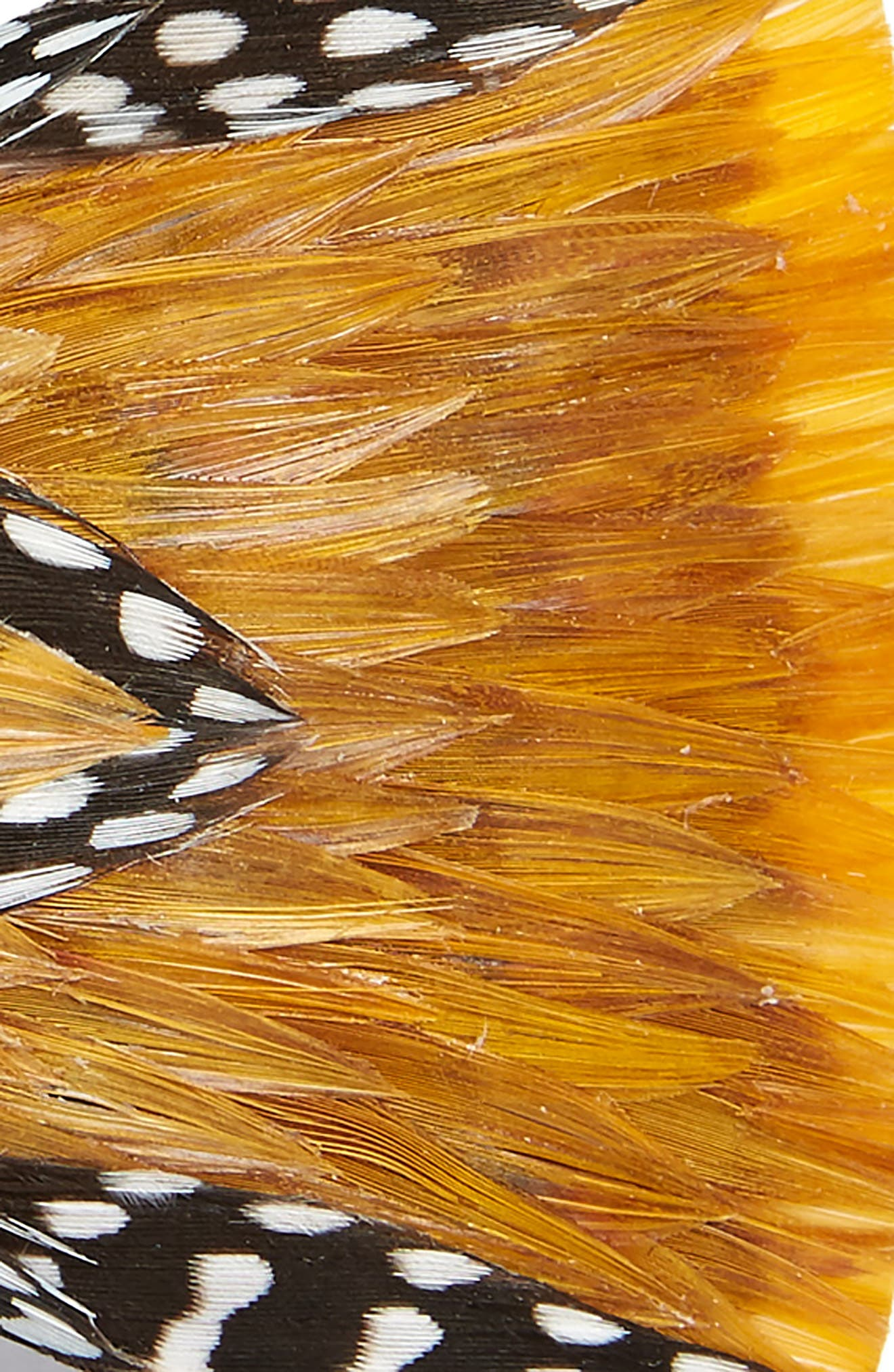 Woco Feather Bow Tie,                             Alternate thumbnail 2, color,                             YELLOW