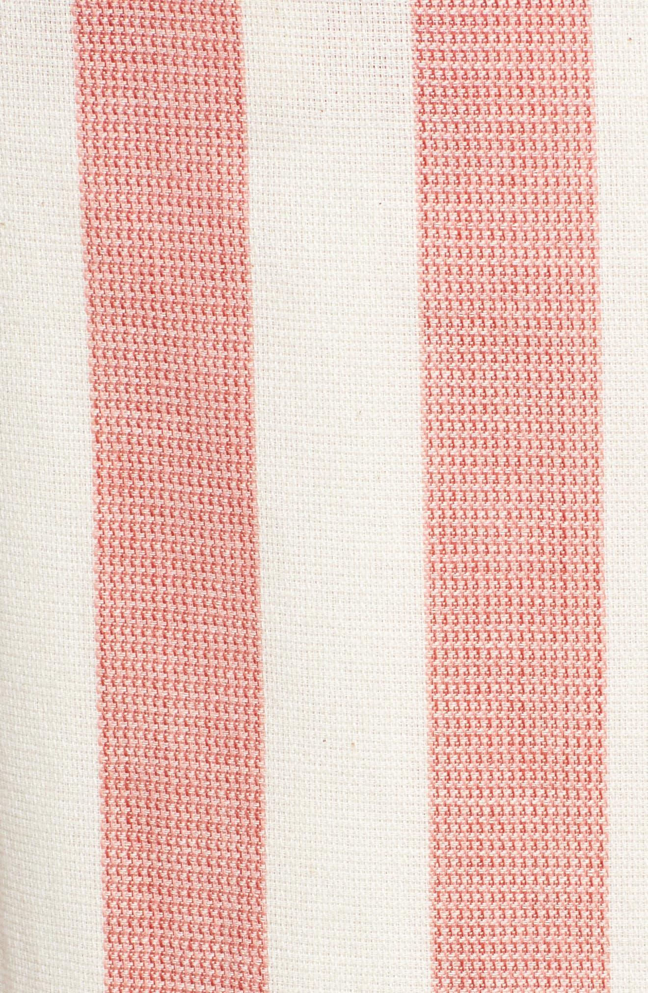 Stripe Paperbag Waist Pants,                             Alternate thumbnail 6, color,                             600