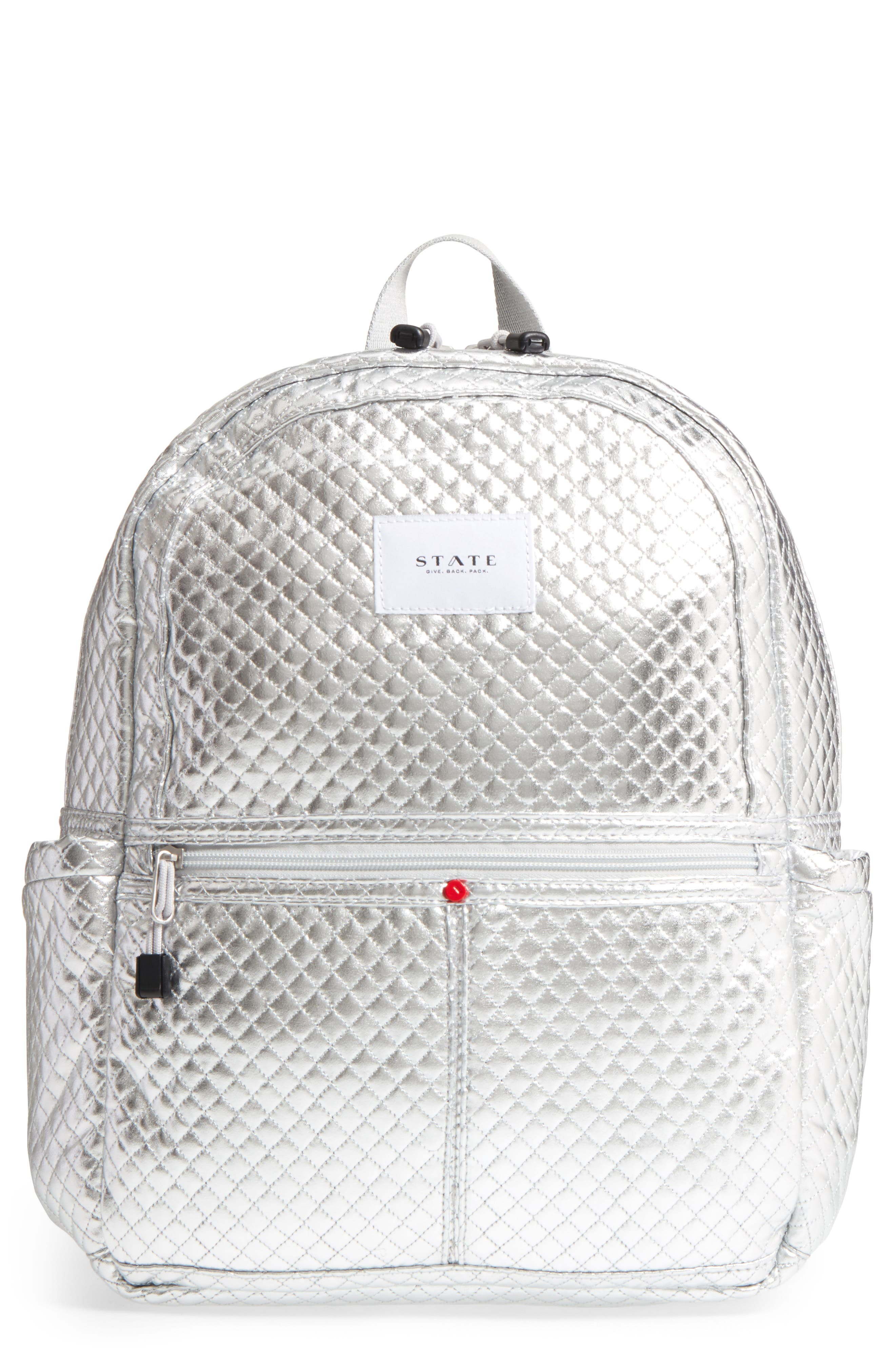 Quilted Metallic Kane Backpack,                             Main thumbnail 1, color,                             041