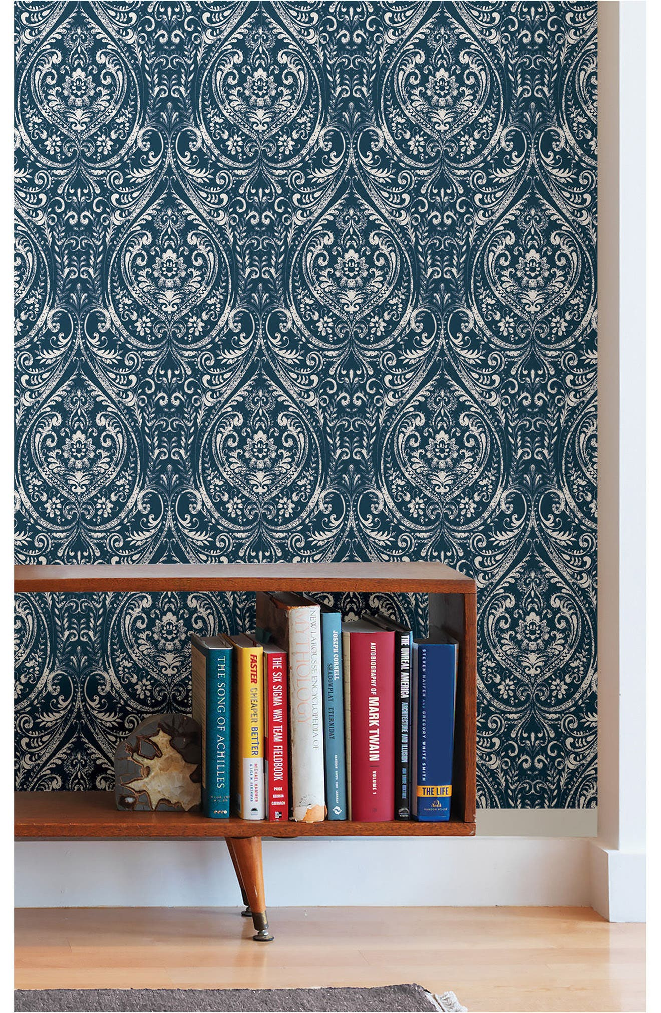 Bohemian Damask Peel & Stick Vinyl Wallpaper,                             Alternate thumbnail 2, color,