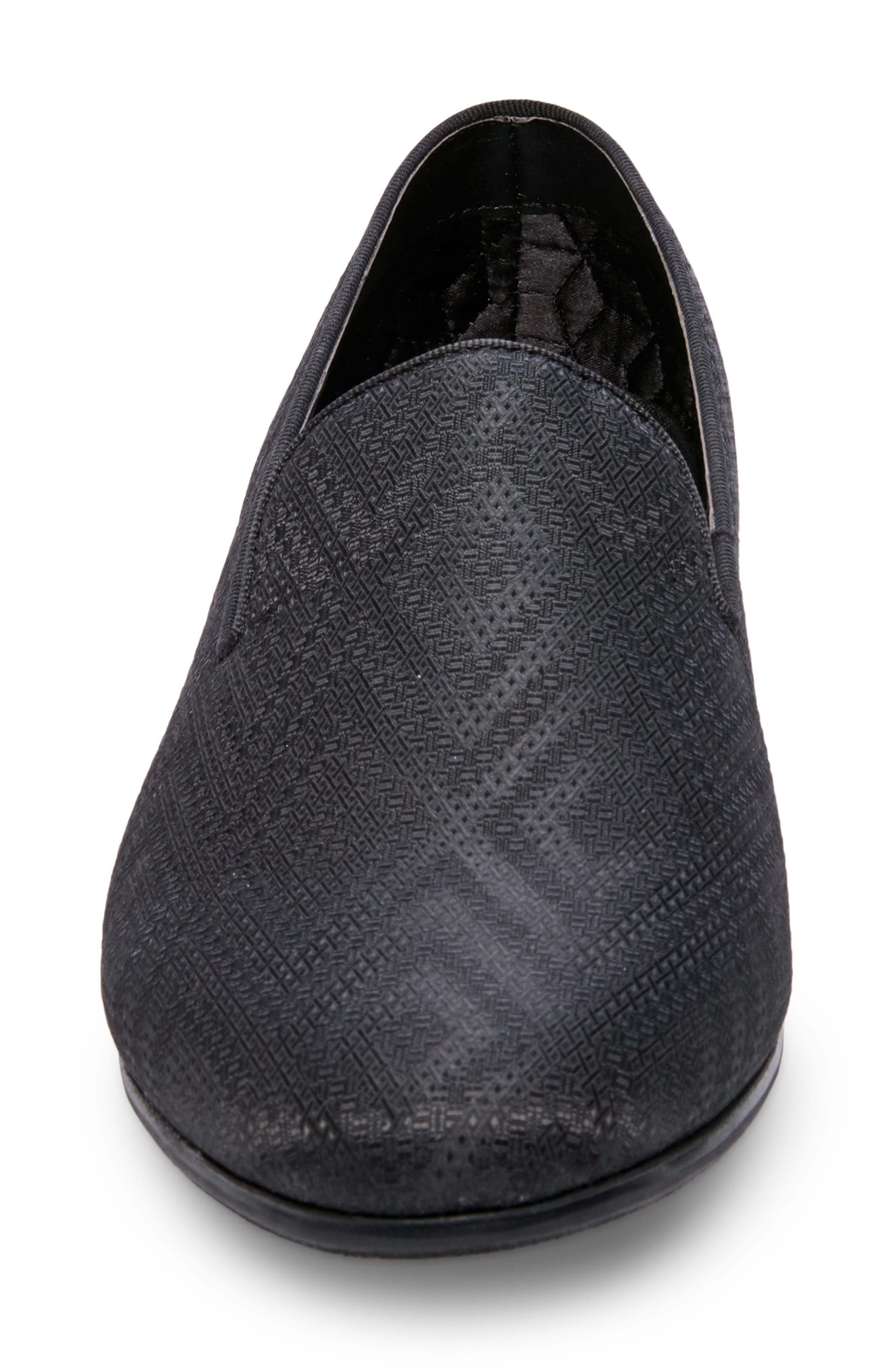 Chevron Slip-On Loafer,                             Alternate thumbnail 4, color,                             009