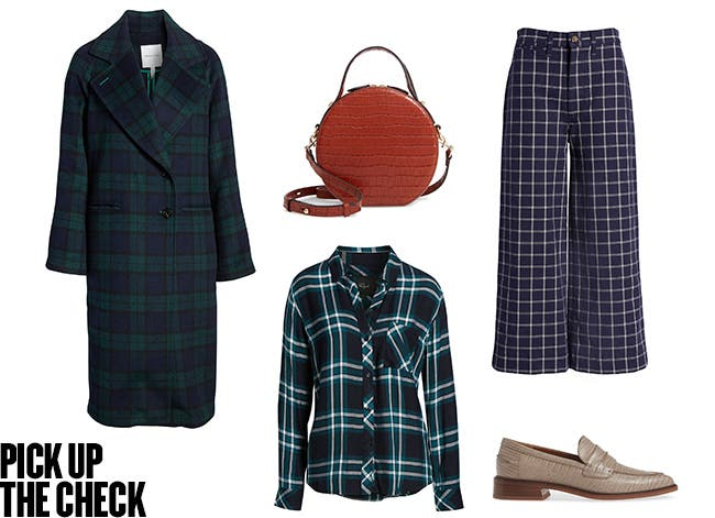 Pick up the check: classic plaid for fall.