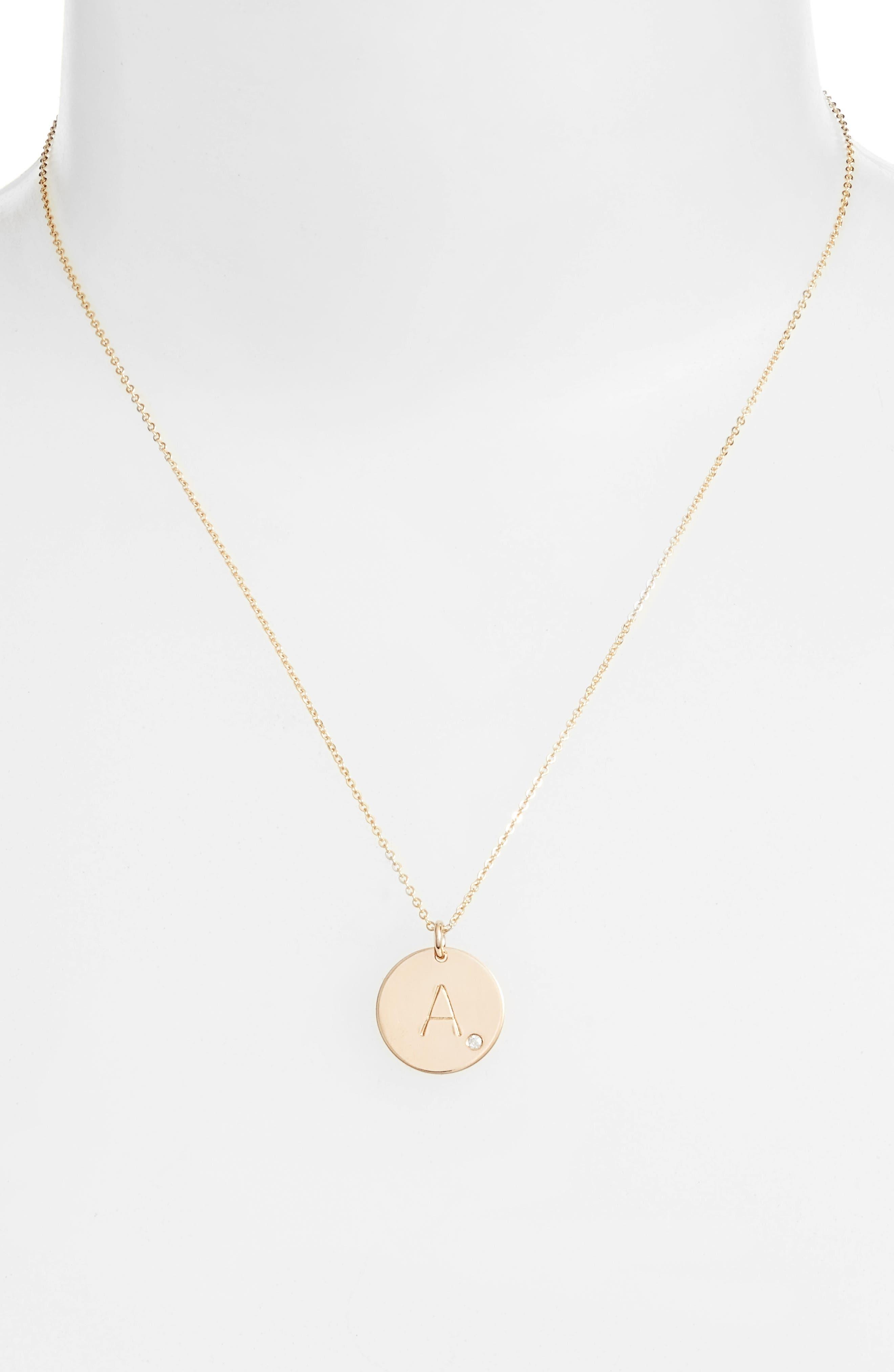 Diamond Initial Pendant Necklace,                             Alternate thumbnail 2, color,                             710