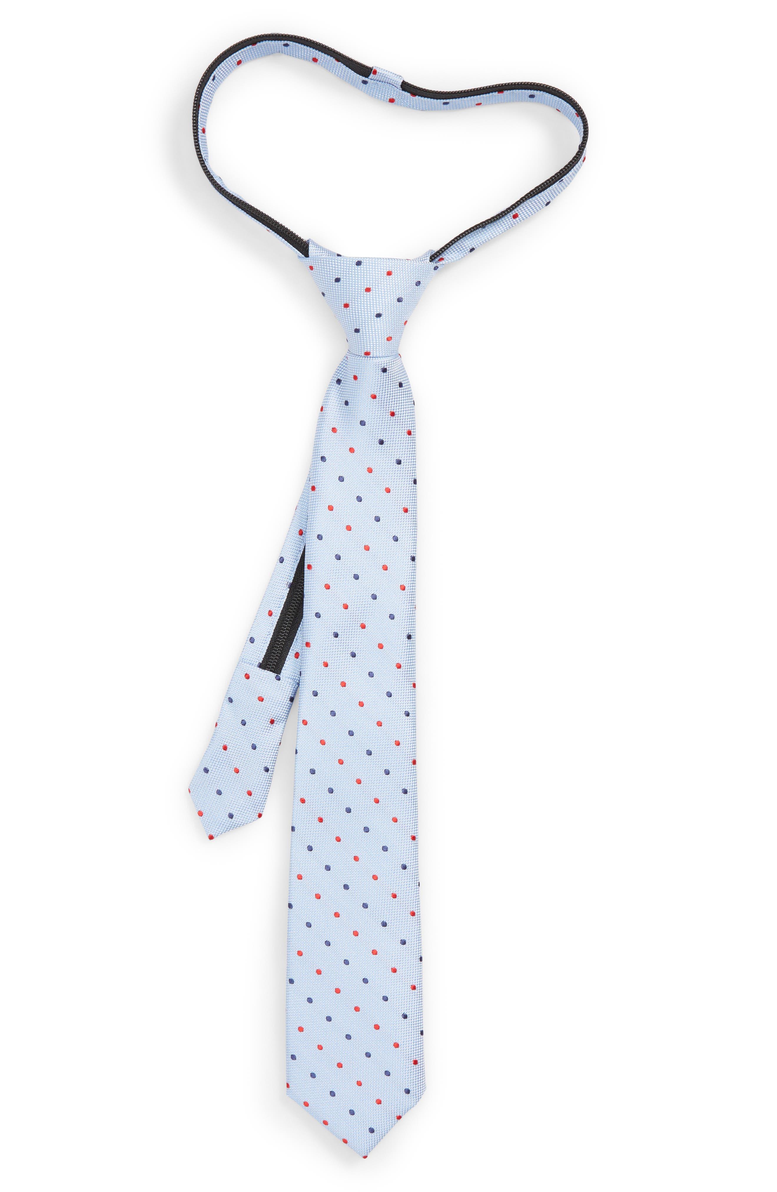 Double Dot Silk Zip Tie,                             Main thumbnail 2, color,