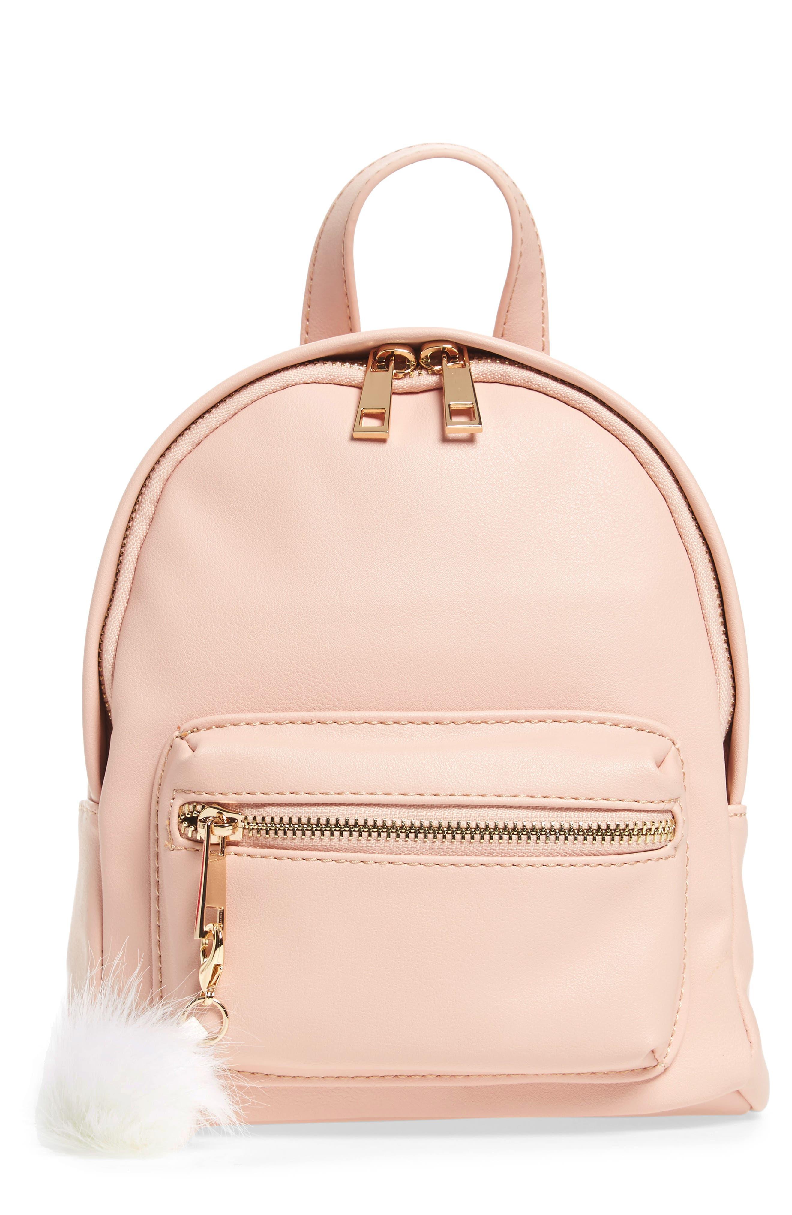 Faux Leather Mini Backpack,                             Main thumbnail 8, color,
