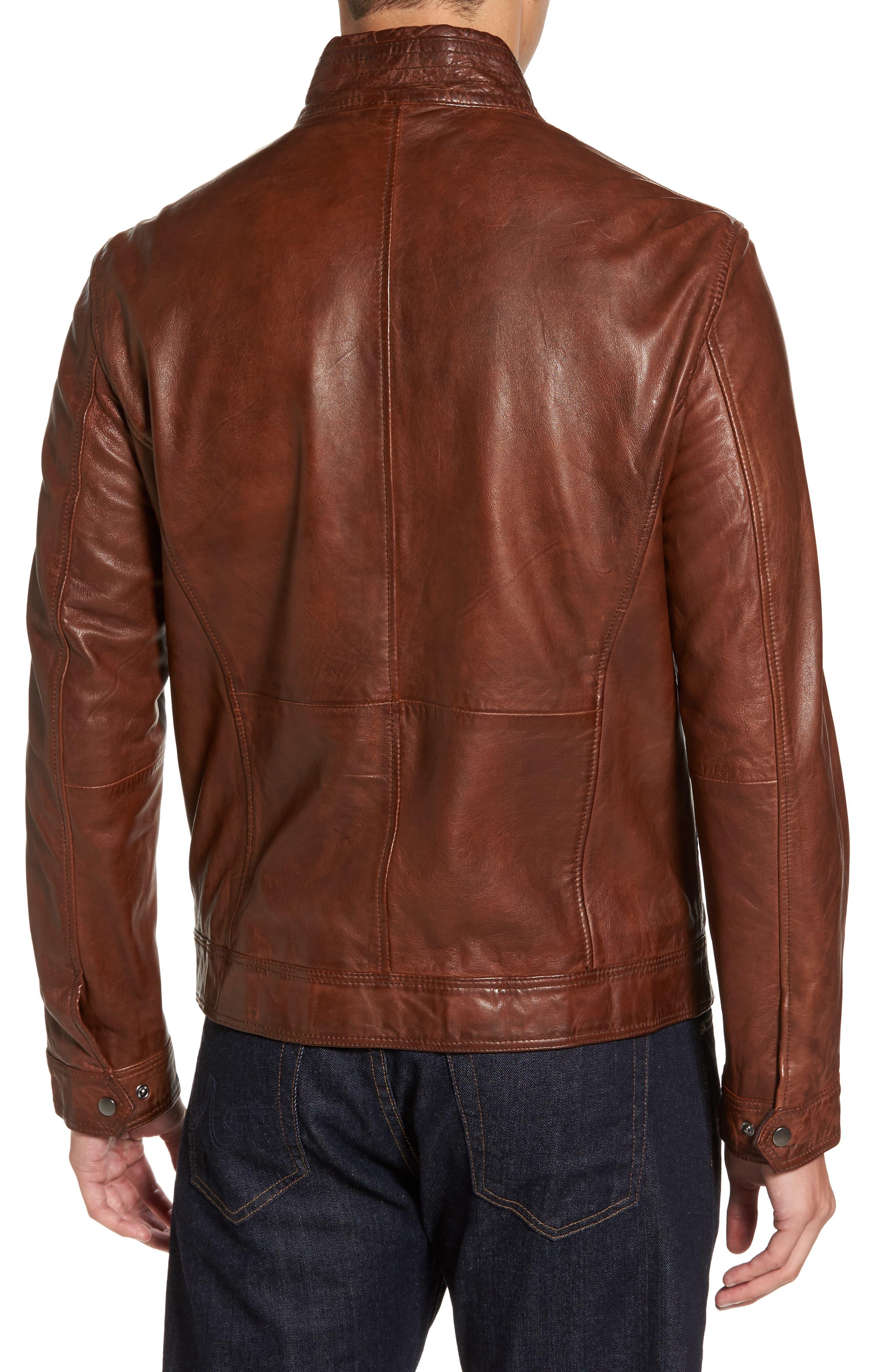 Leather Jacket,                             Alternate thumbnail 2, color,                             210