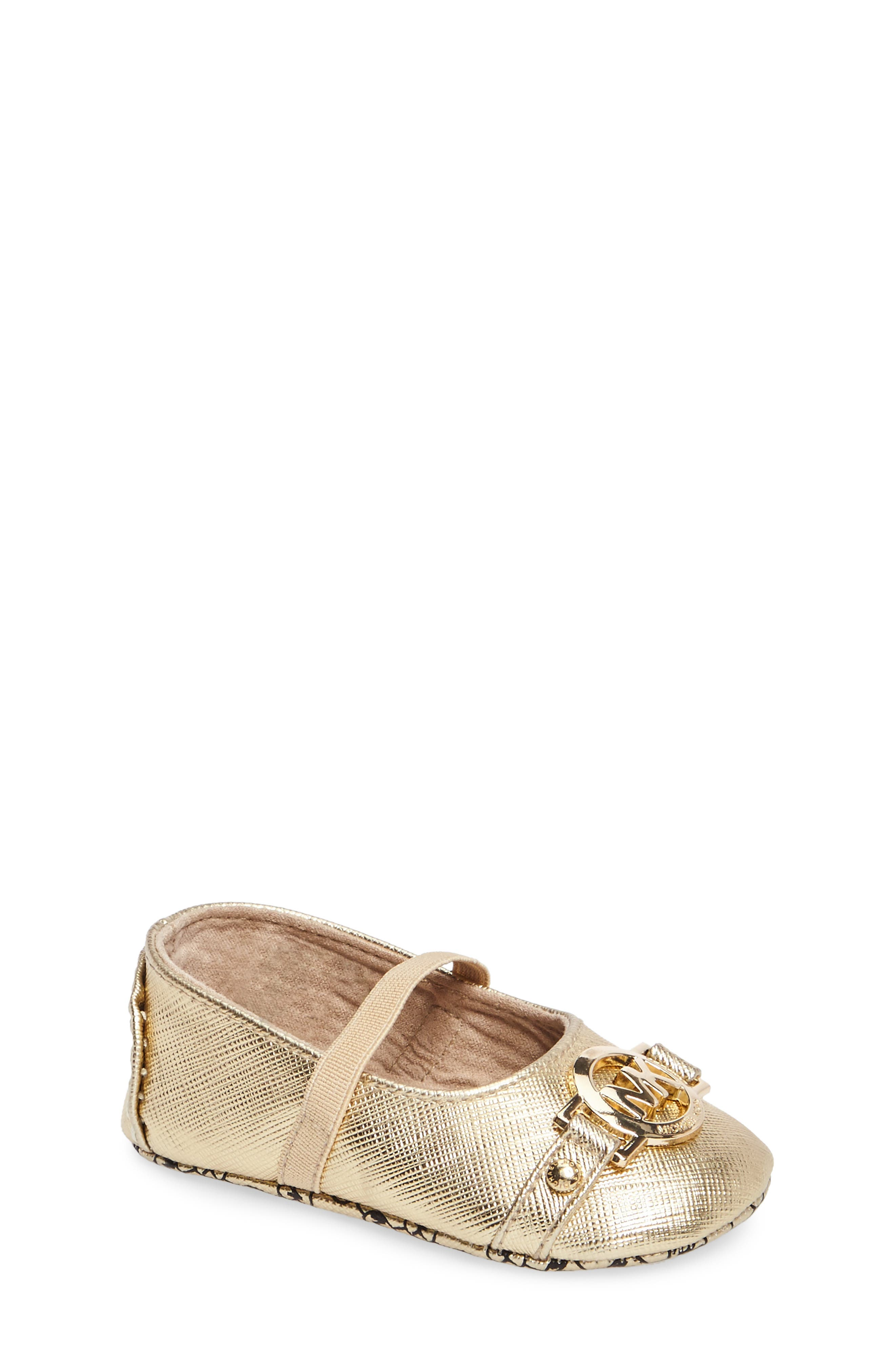 Baby Giby Mary Jane Slipper,                         Main,                         color, GOLD
