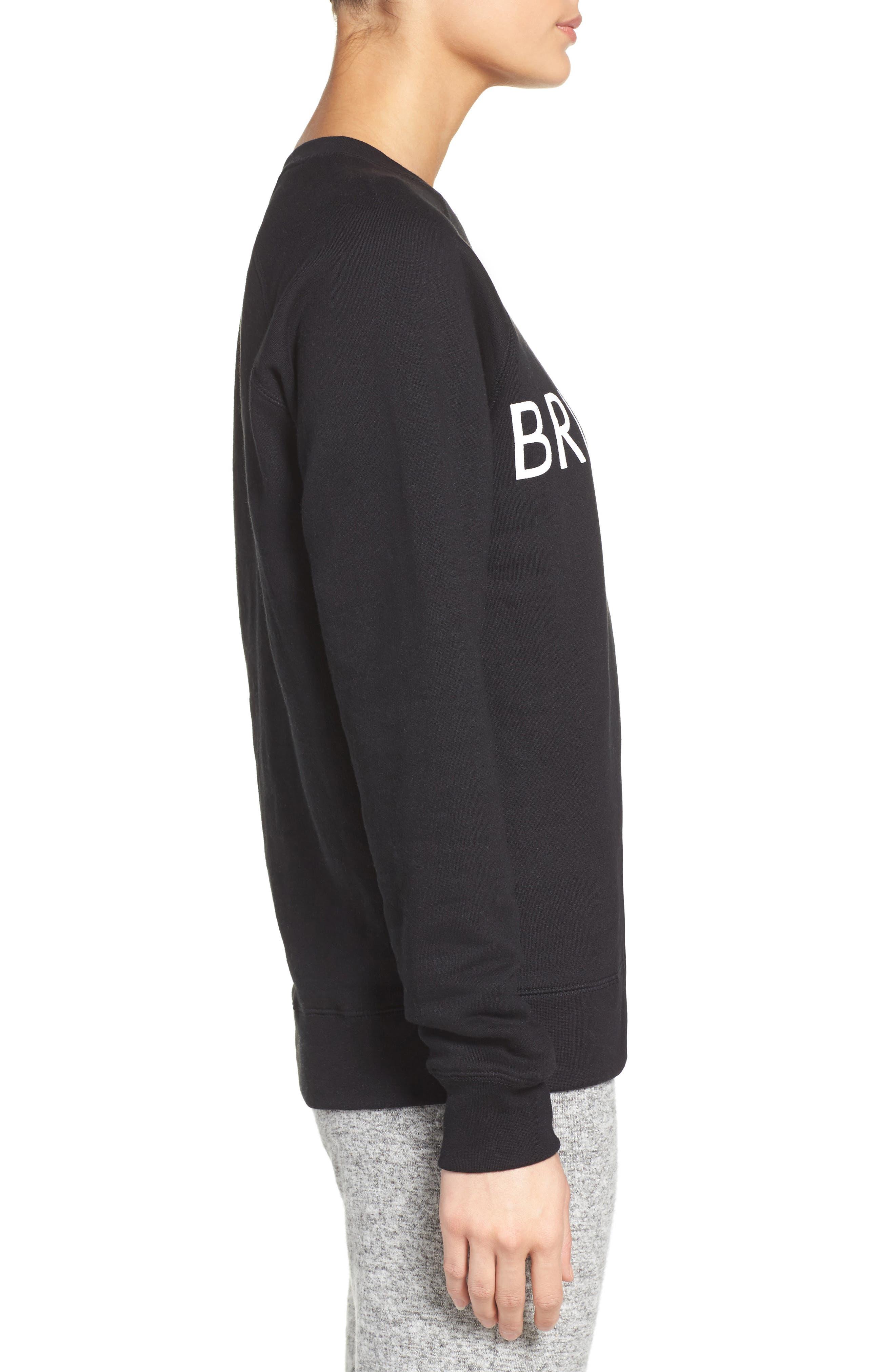 Brunette Crewneck Sweatshirt,                             Alternate thumbnail 4, color,                             001
