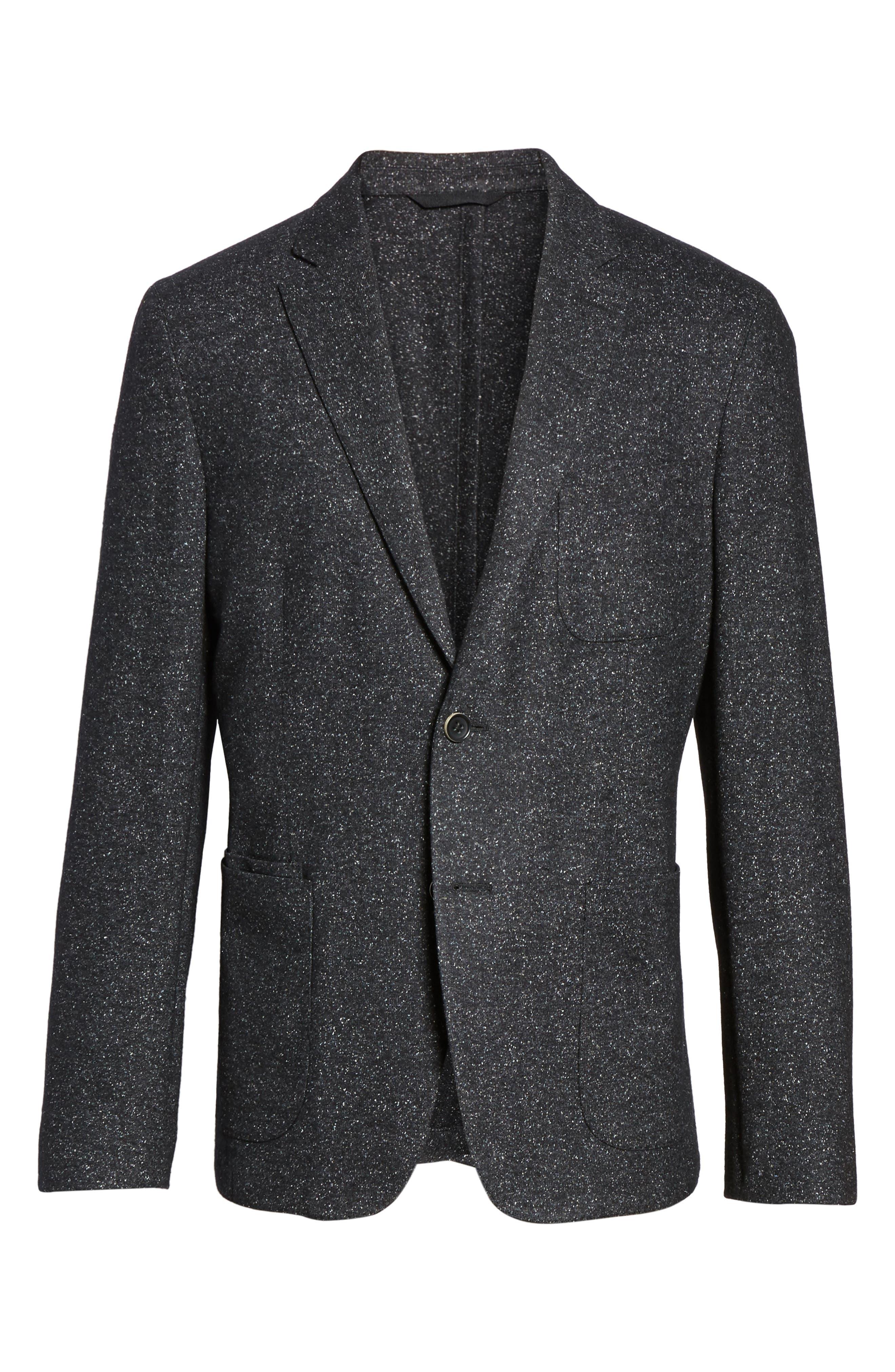 Donegal Classic Fit Suede Trim Jersey Sport Coat,                             Alternate thumbnail 5, color,                             021
