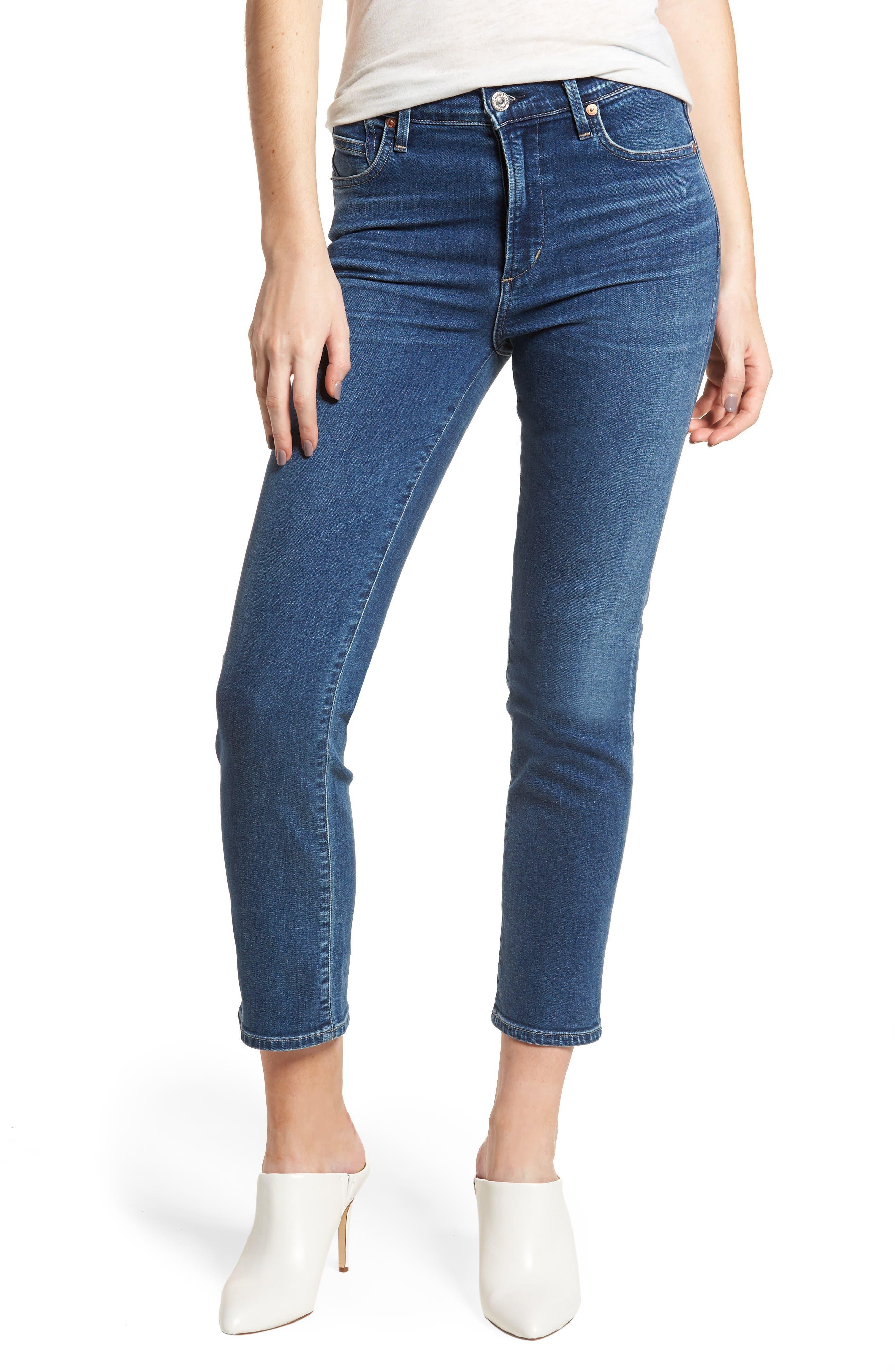 Cara Ankle Cigarette Jeans,                         Main,                         color,