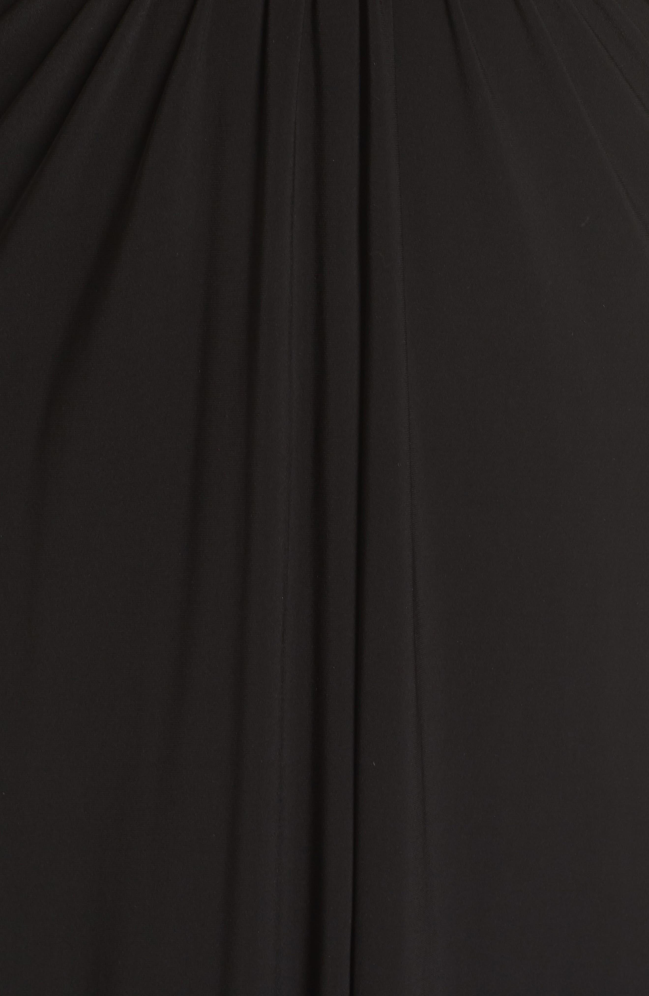 Embellished Gown,                             Alternate thumbnail 5, color,                             BLACK/ GOLD