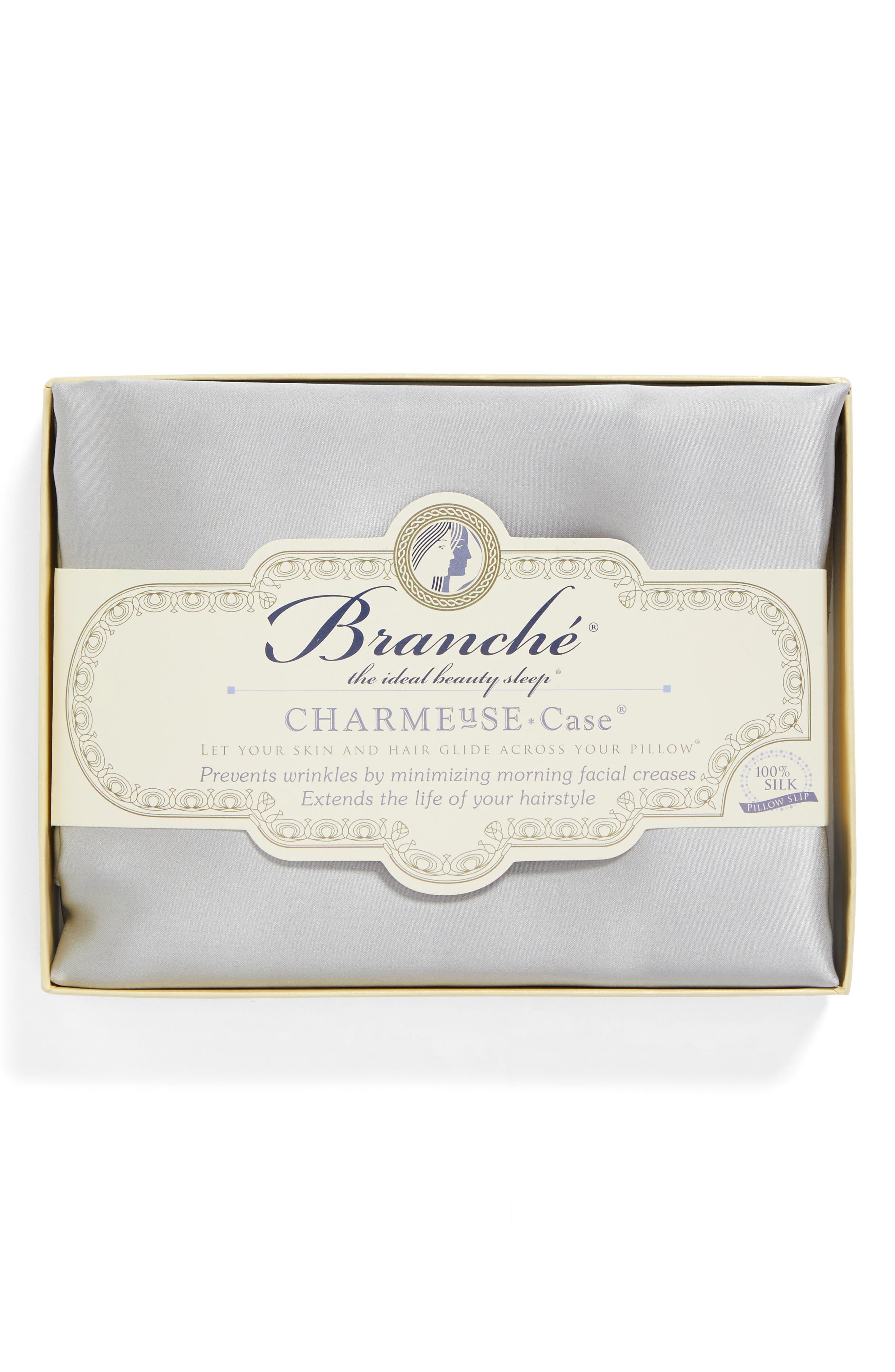 Branché Beauty Silk Charmeuse Pillowcase,                             Alternate thumbnail 3, color,                             040