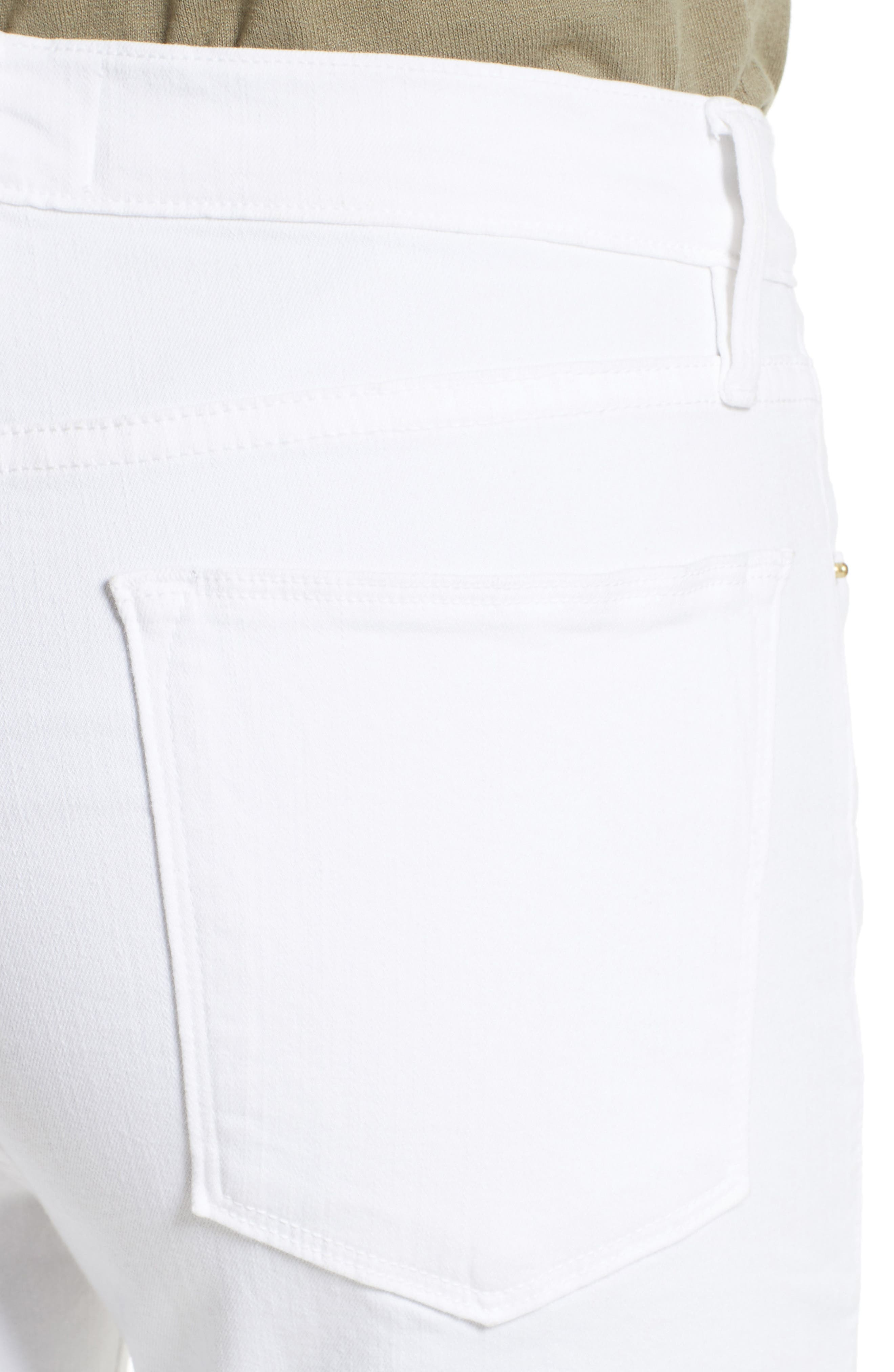 Le High Straight High Waist Staggered Hem Jeans,                             Alternate thumbnail 9, color,