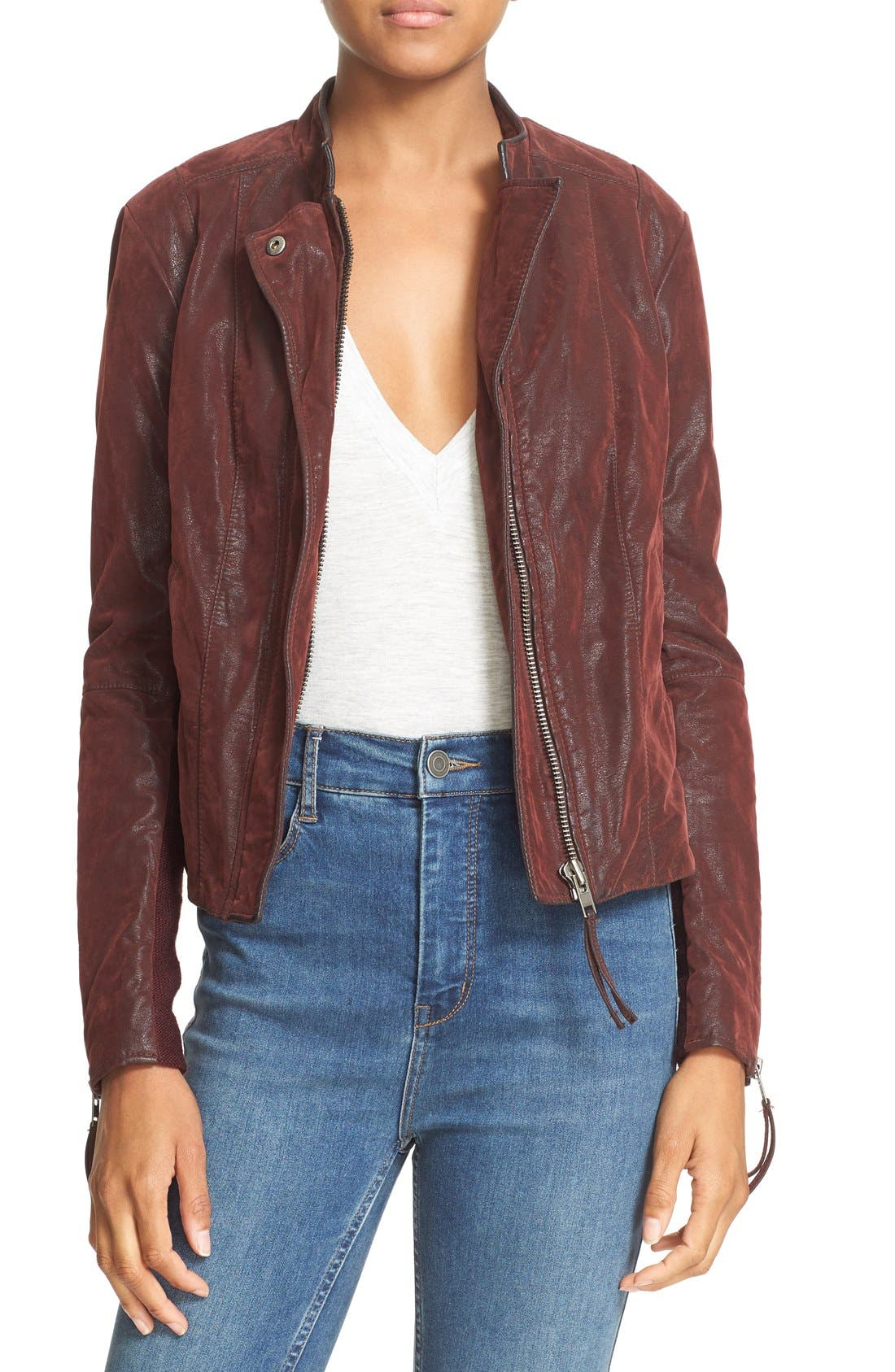 Faux Leather Jacket,                             Main thumbnail 9, color,