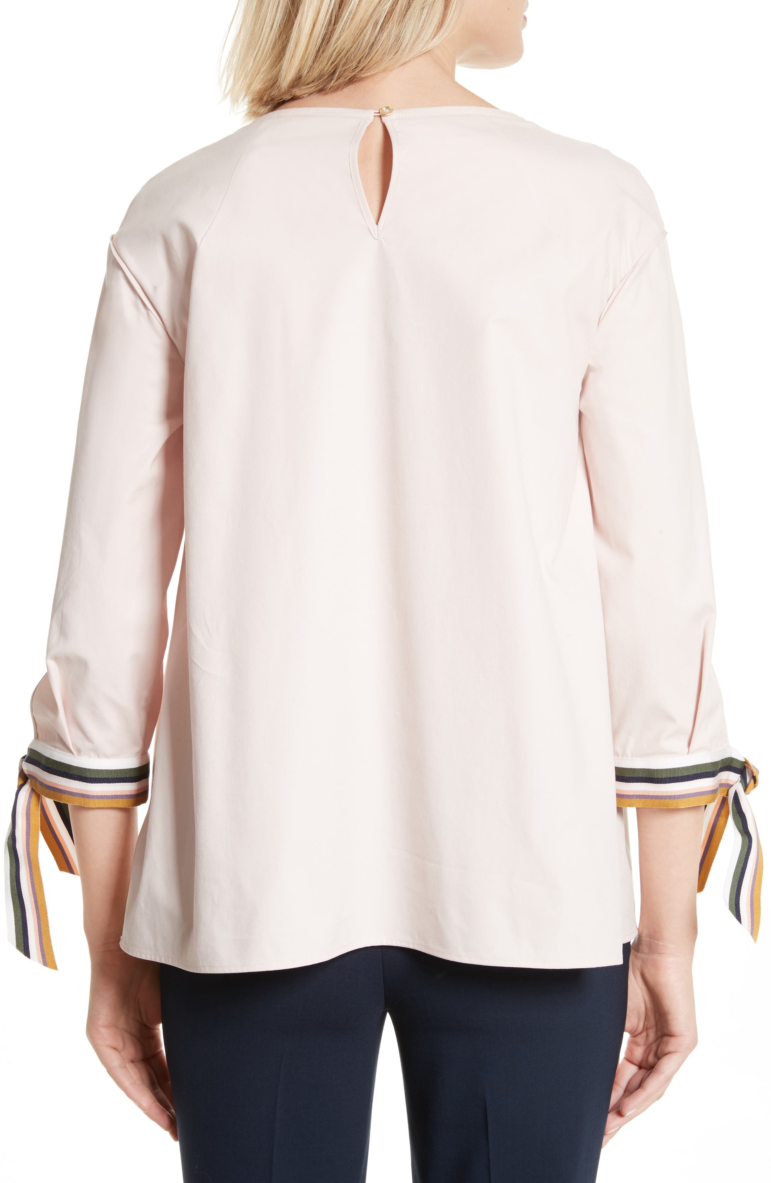 Lillou Tie Sleeve Top,                             Alternate thumbnail 2, color,                             672