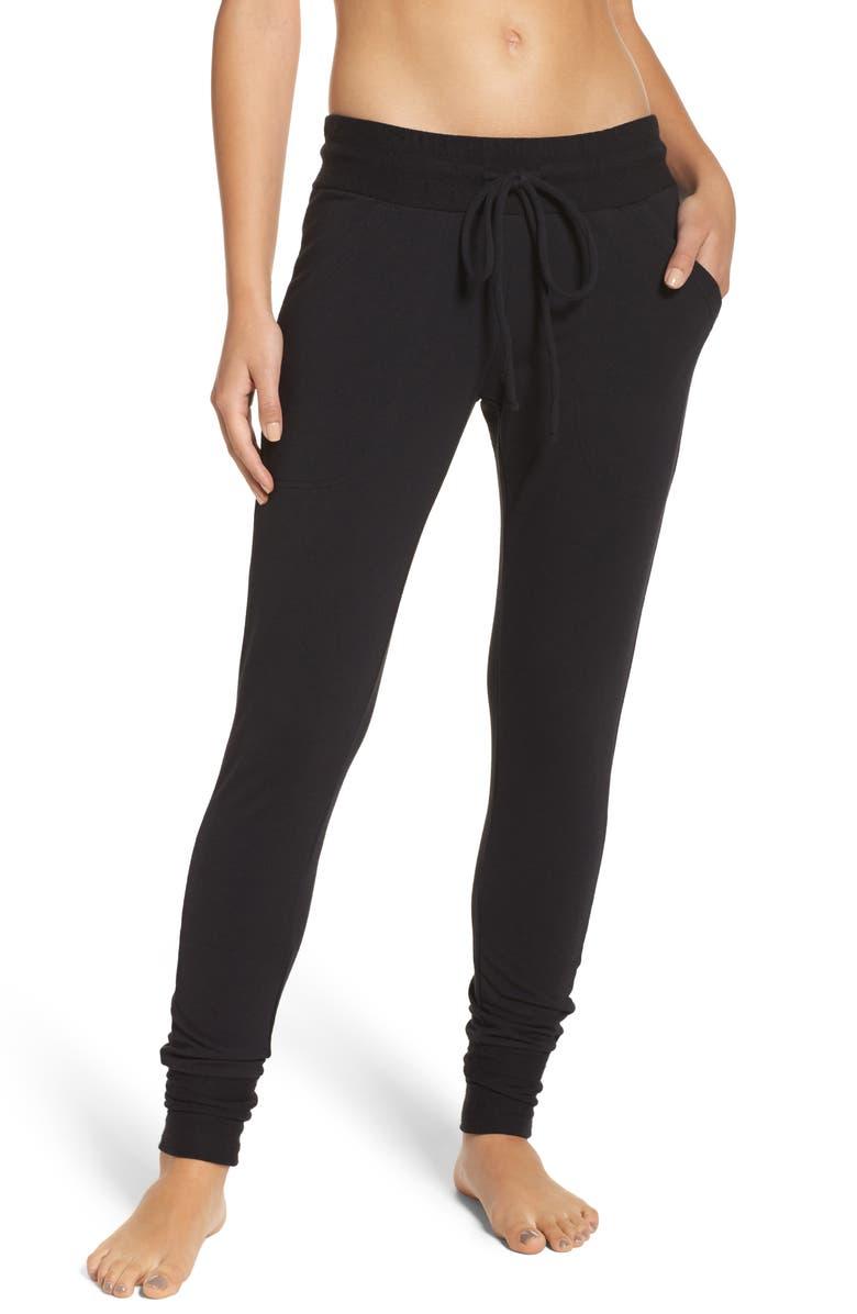 Sunny Skinny Sweatpants,                         Main,                         color, BLACK