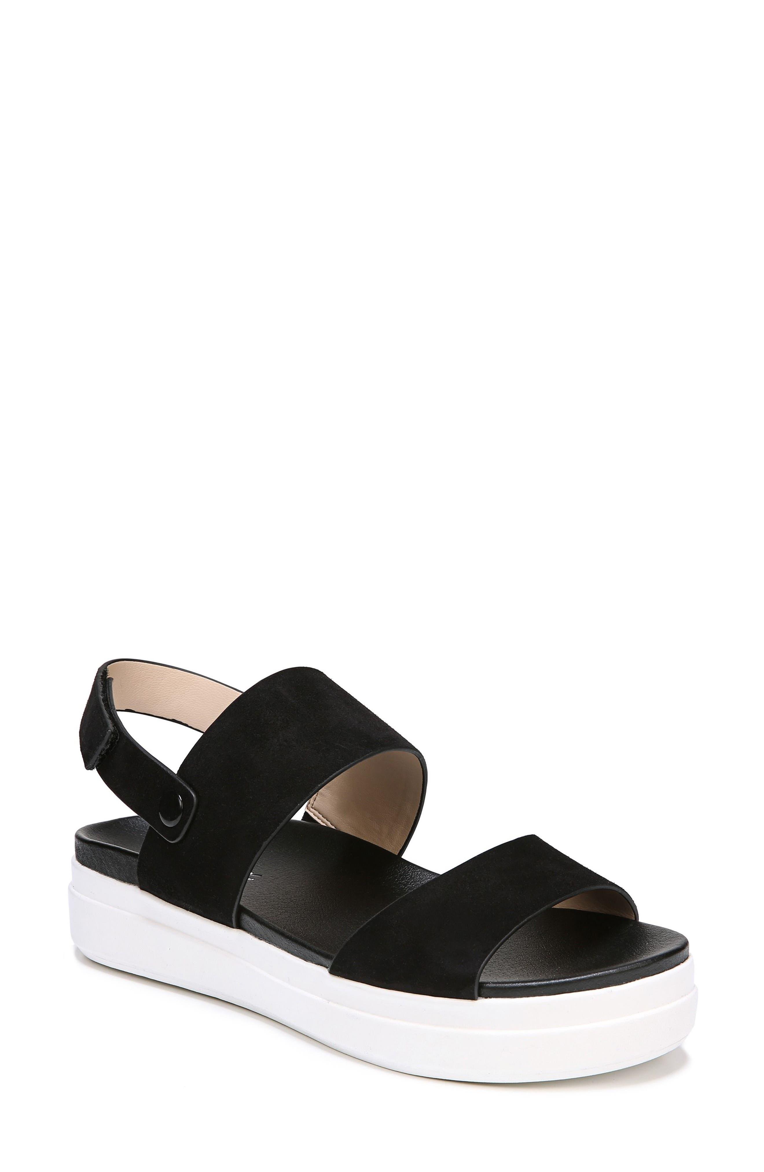 Scout Platform Sandal,                             Main thumbnail 1, color,                             BLACK SUEDE