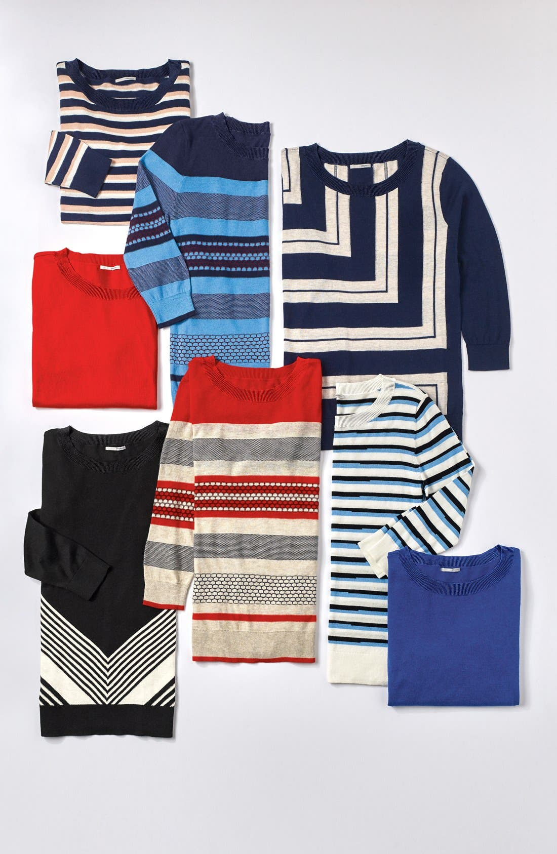 HALOGEN<SUP>®</SUP>,                             Three Quarter Sleeve Sweater,                             Alternate thumbnail 5, color,                             001