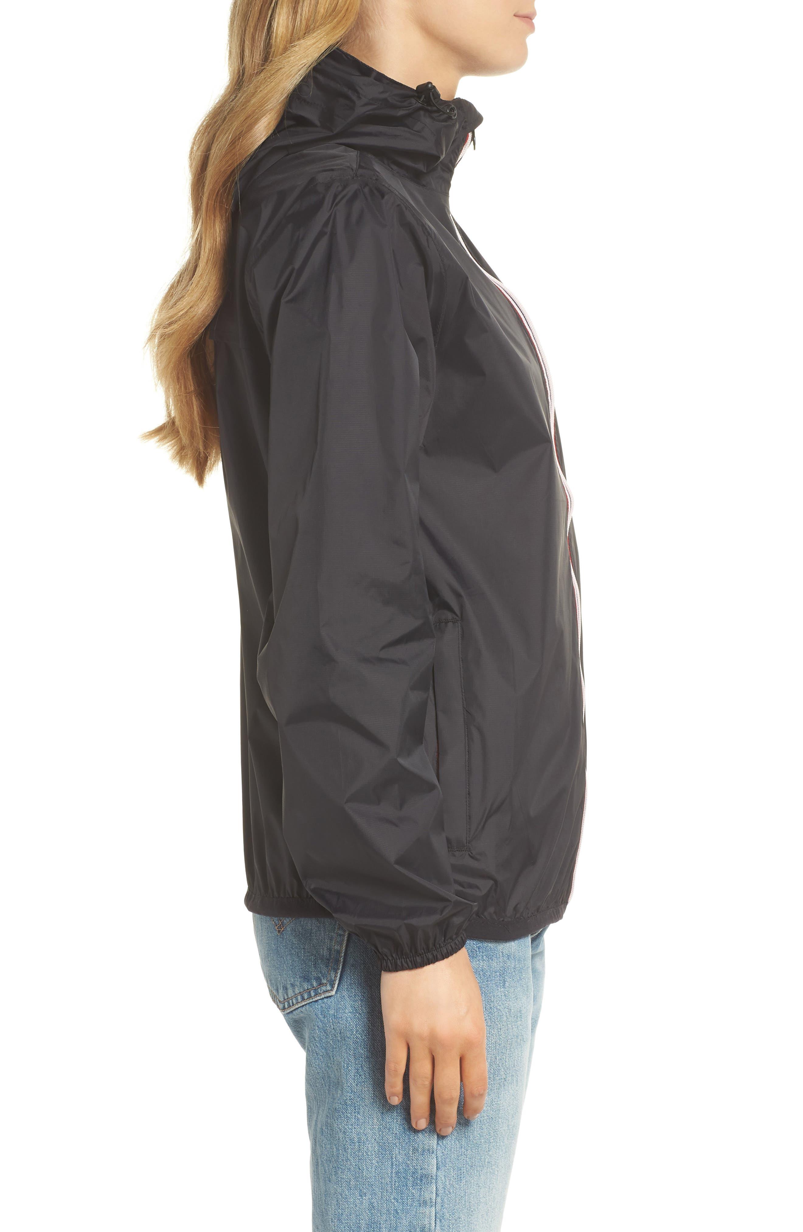 Packable Rain Jacket,                             Alternate thumbnail 3, color,                             BLACK