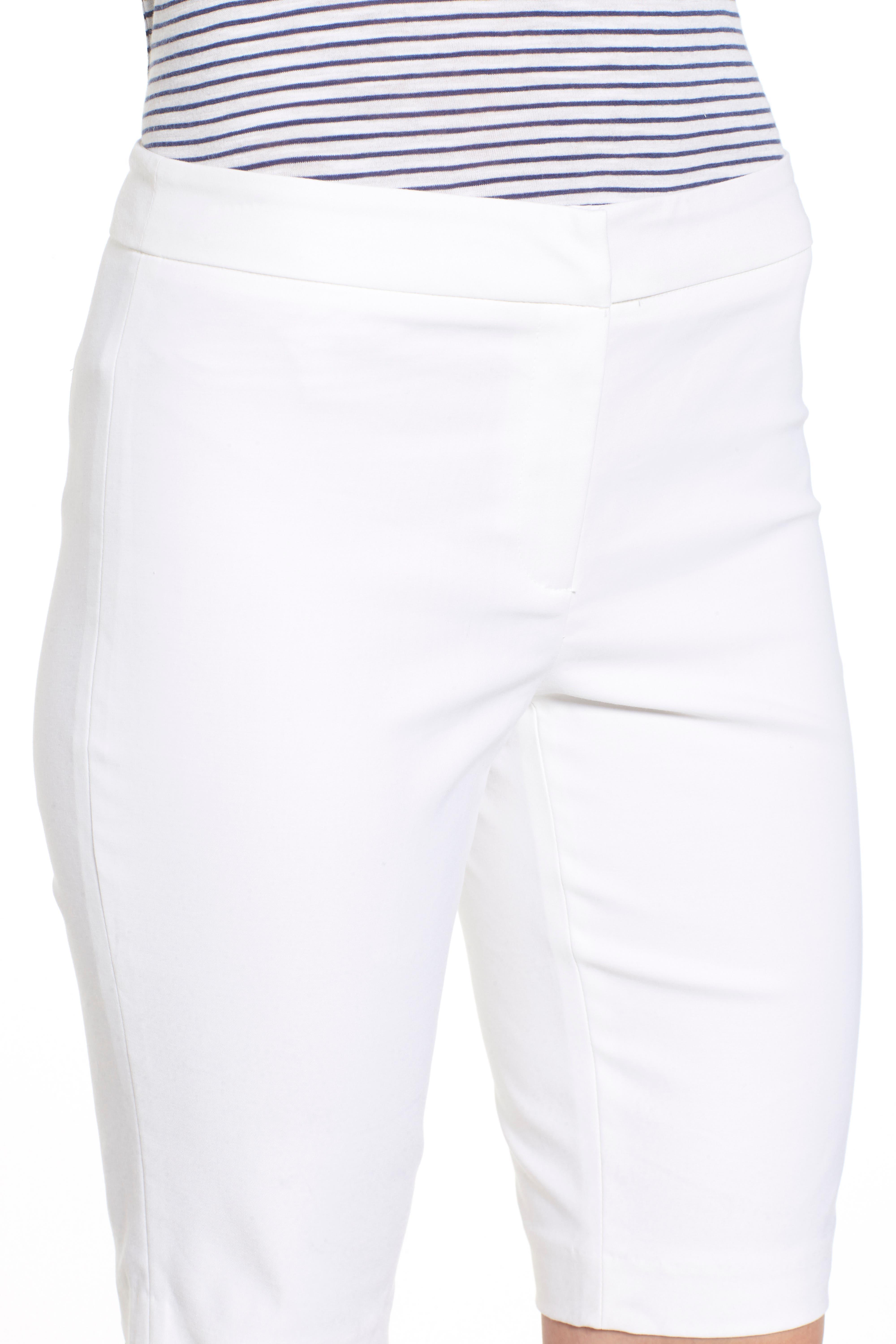 'The Perfect' Stretch Woven Trouser Shorts,                             Alternate thumbnail 4, color,                             PAPER WHITE