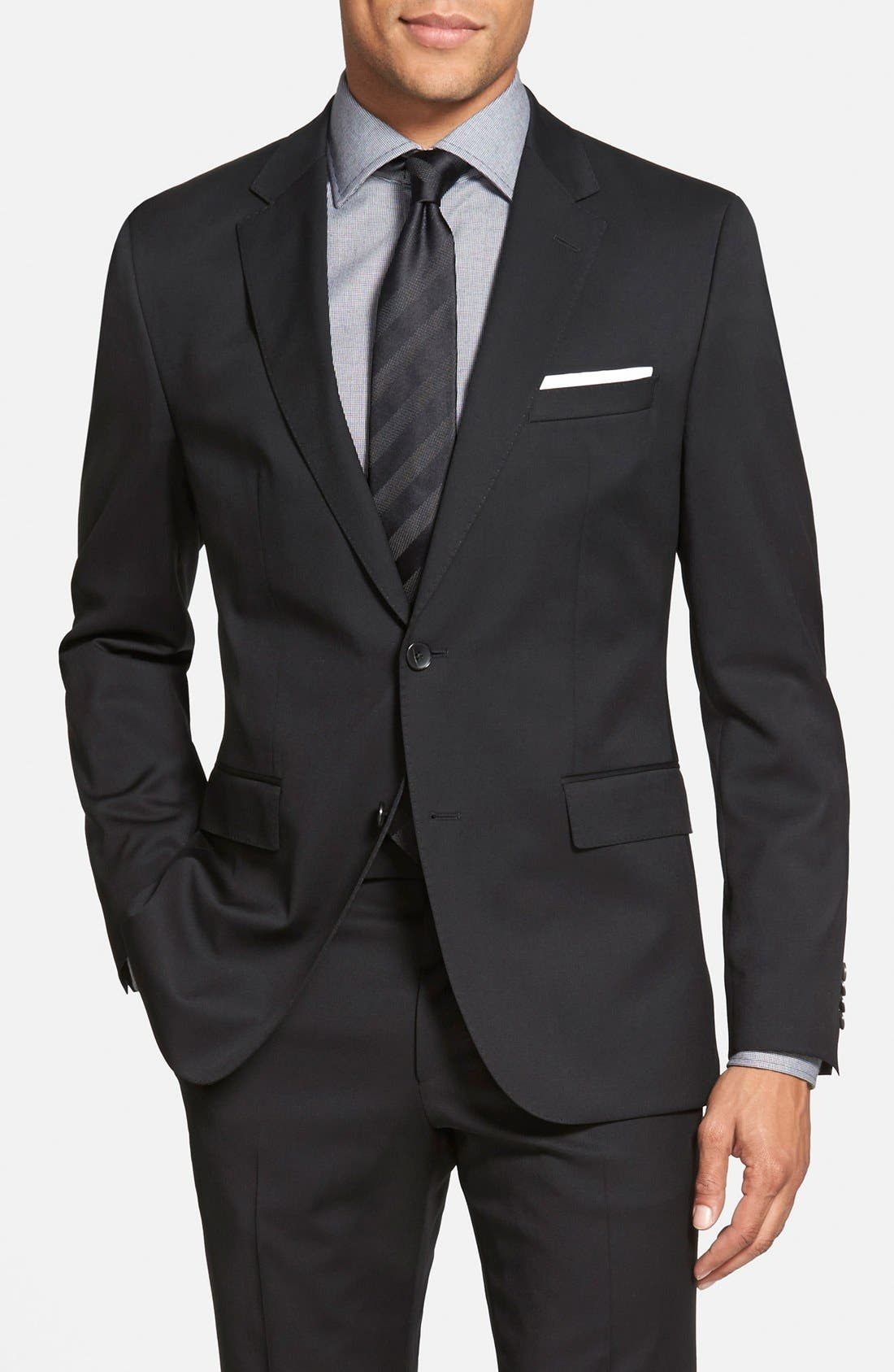 Johnstons/Lenon Classic Fit Wool Suit,                             Alternate thumbnail 3, color,                             001