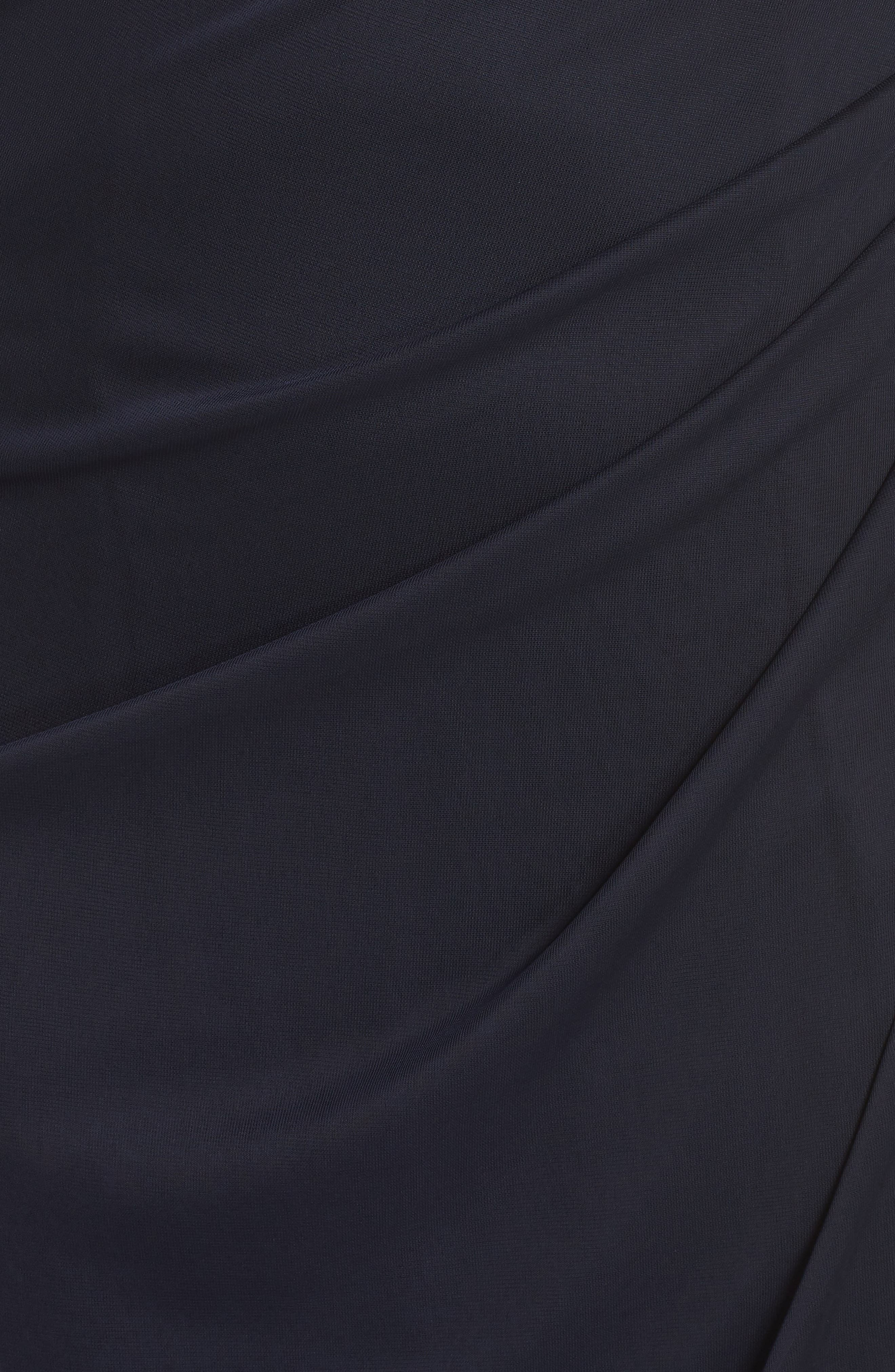Beaded Off the Shoulder Gown,                             Alternate thumbnail 6, color,                             NAVY/ GUNMETAL