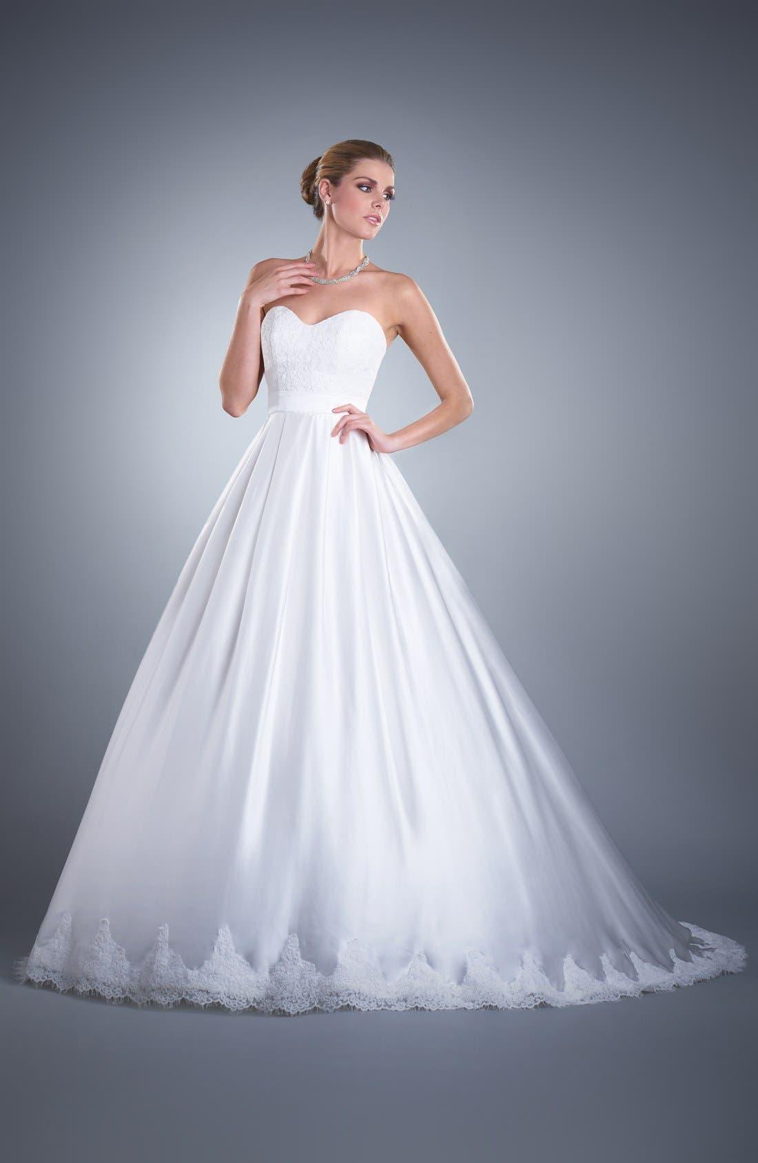 Ebie Lace & Silk Charmeuse Dress,                         Main,                         color, 902