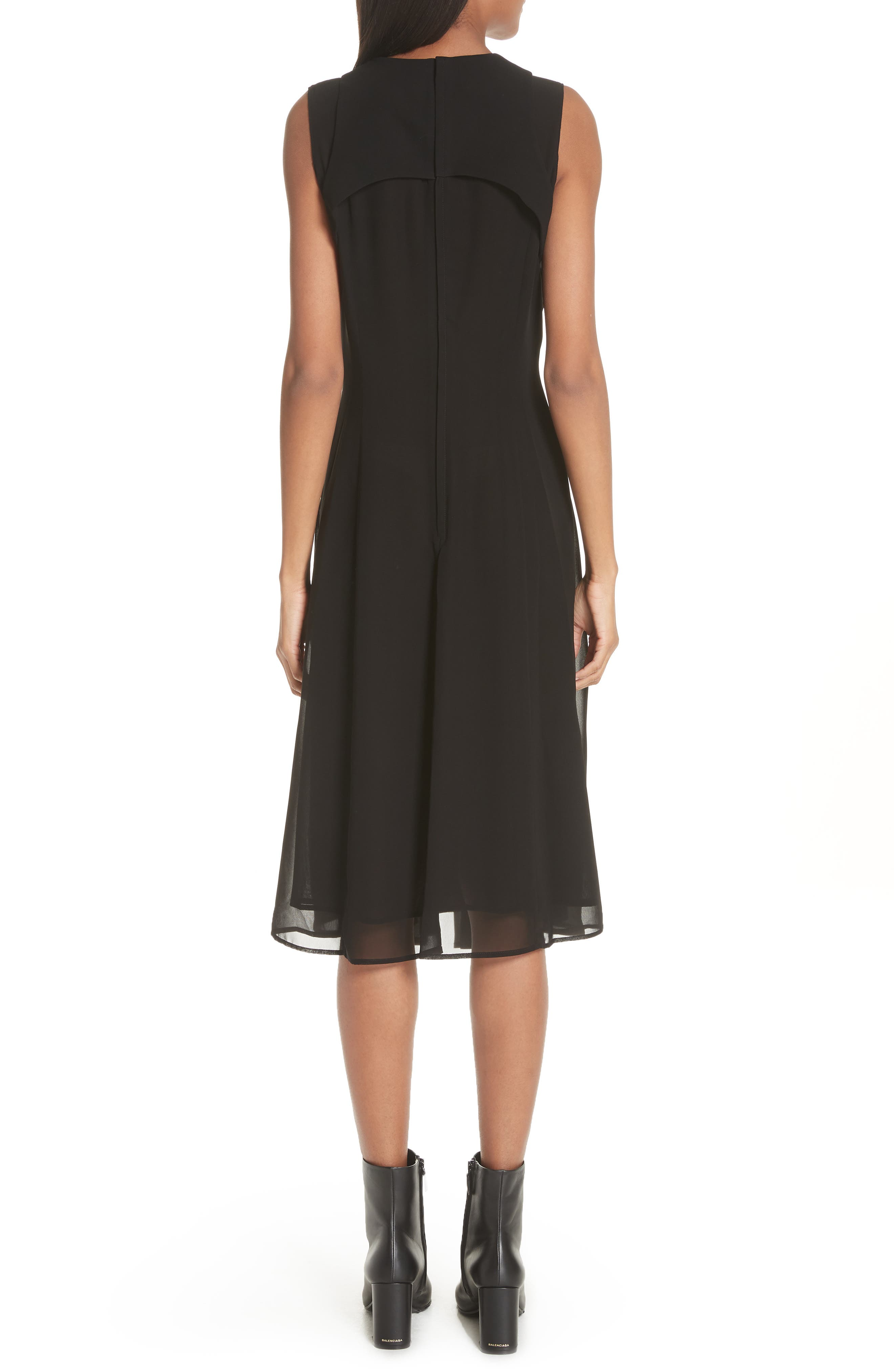 Ribbon Bodice Dress,                             Alternate thumbnail 2, color,                             001