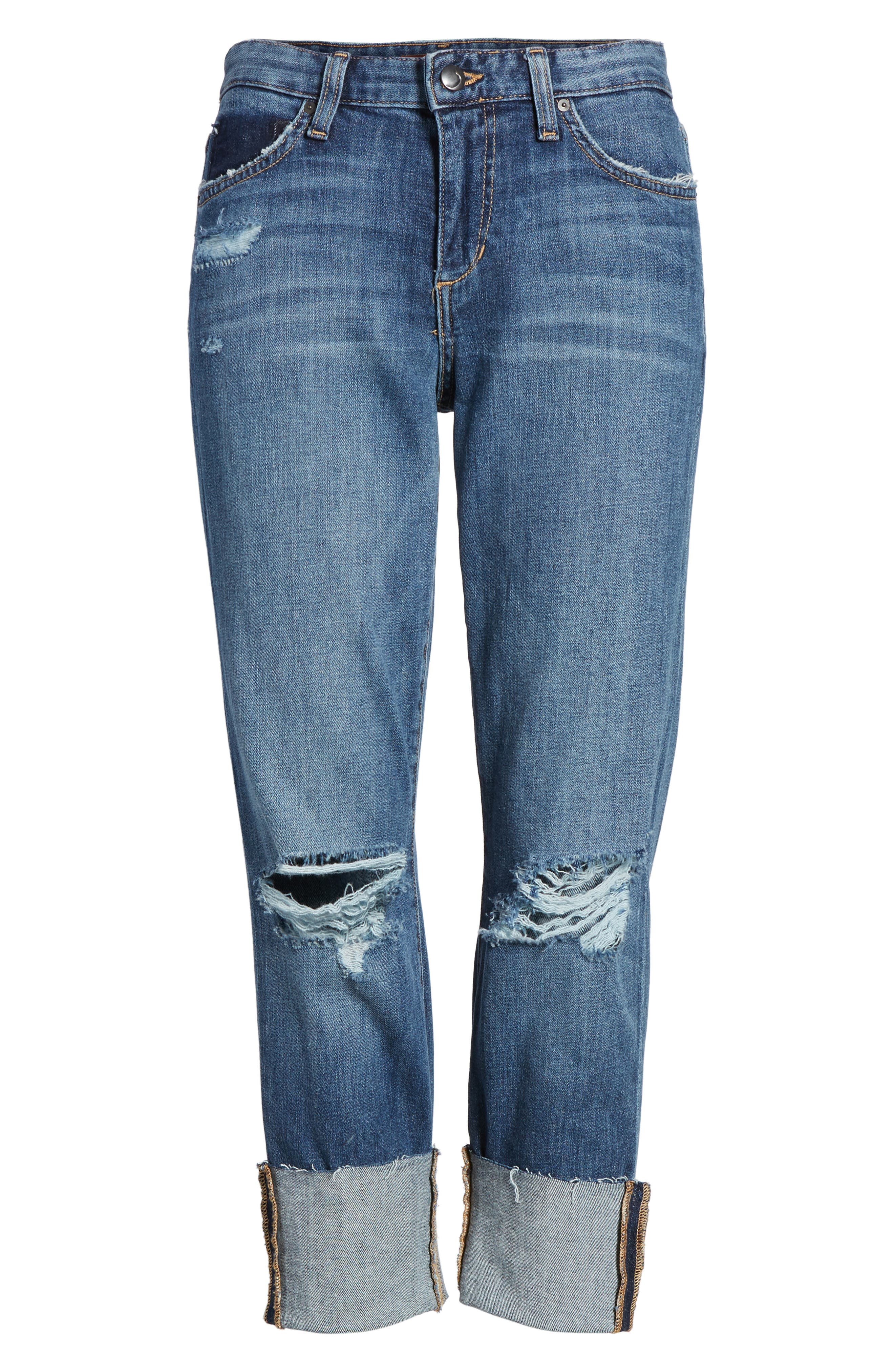 Smith Crop Boyfriend Jeans,                             Alternate thumbnail 6, color,                             400