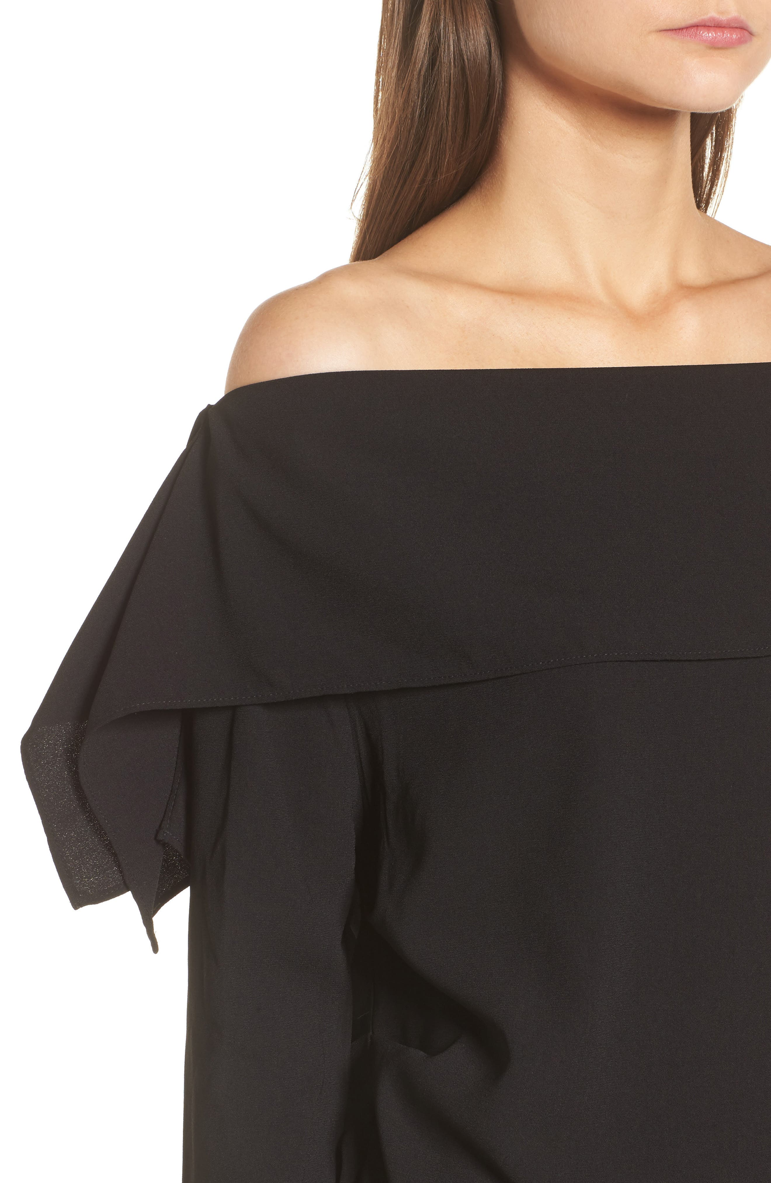 The Picture Perfect Off the Shoulder Blouse,                             Alternate thumbnail 4, color,                             001