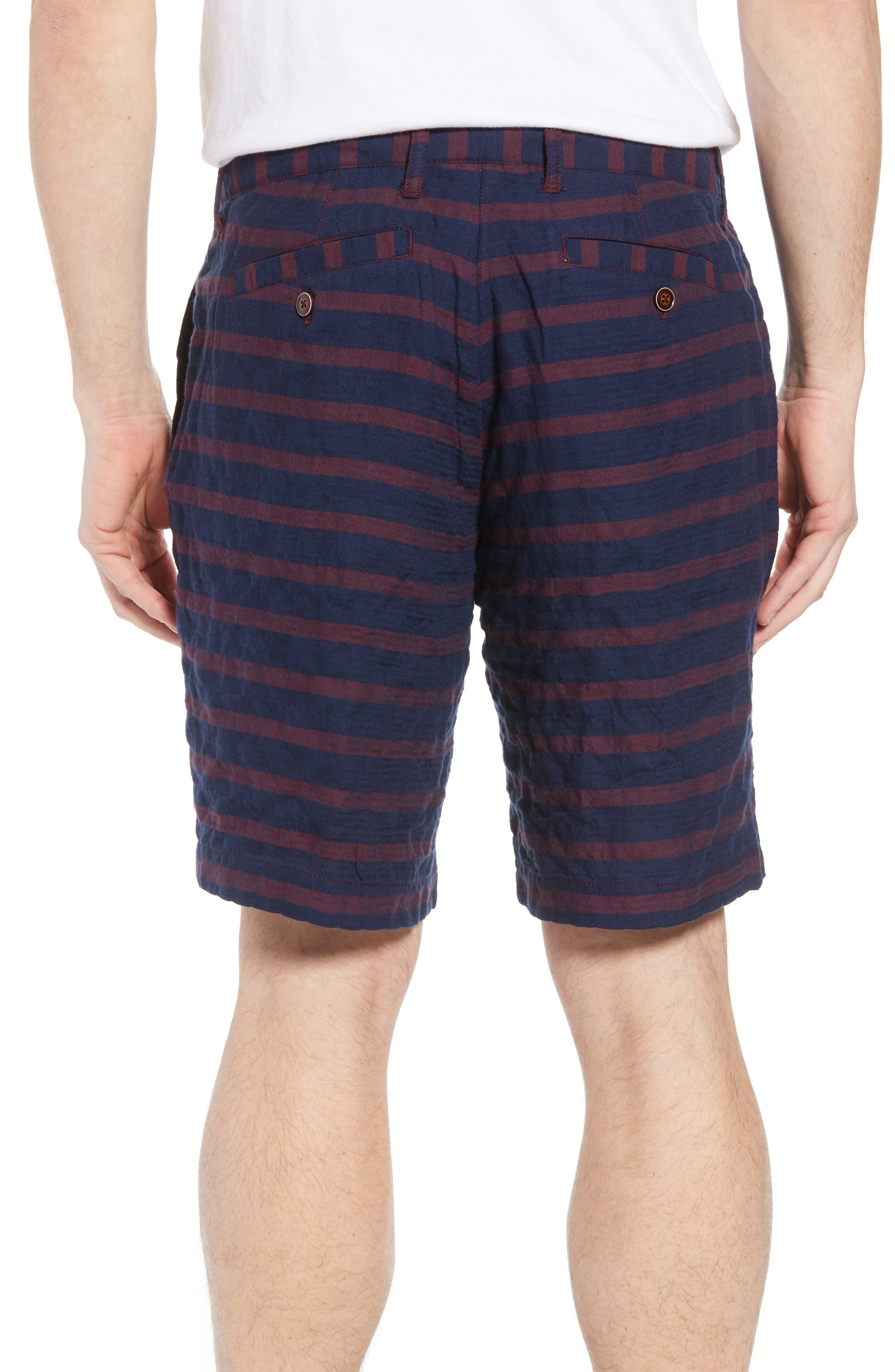 Morgan Stripe Bermuda Shorts,                             Alternate thumbnail 2, color,                             601
