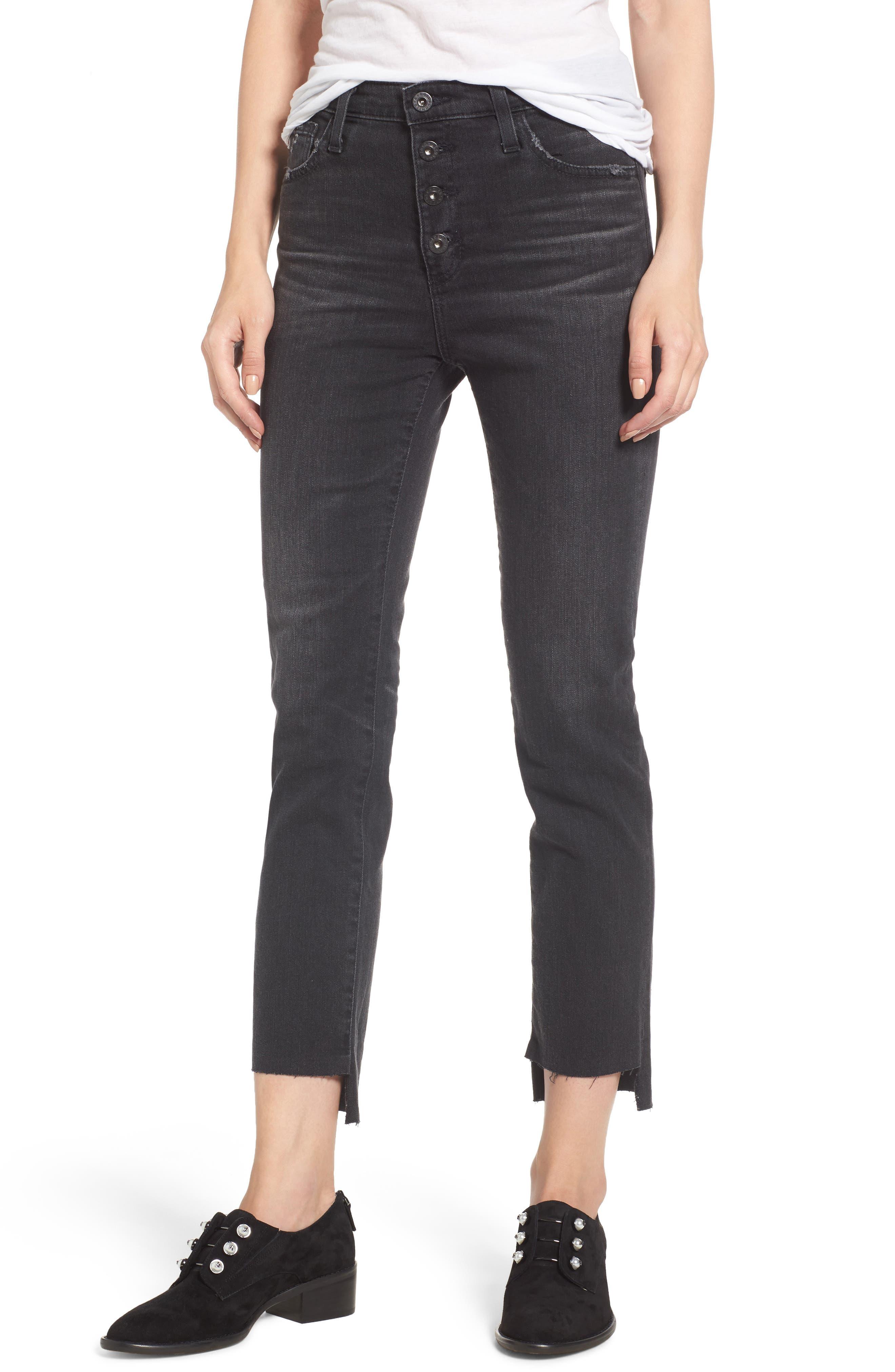 AG,                             Isabelle High Waist Step Hem Jeans,                             Main thumbnail 1, color,                             419