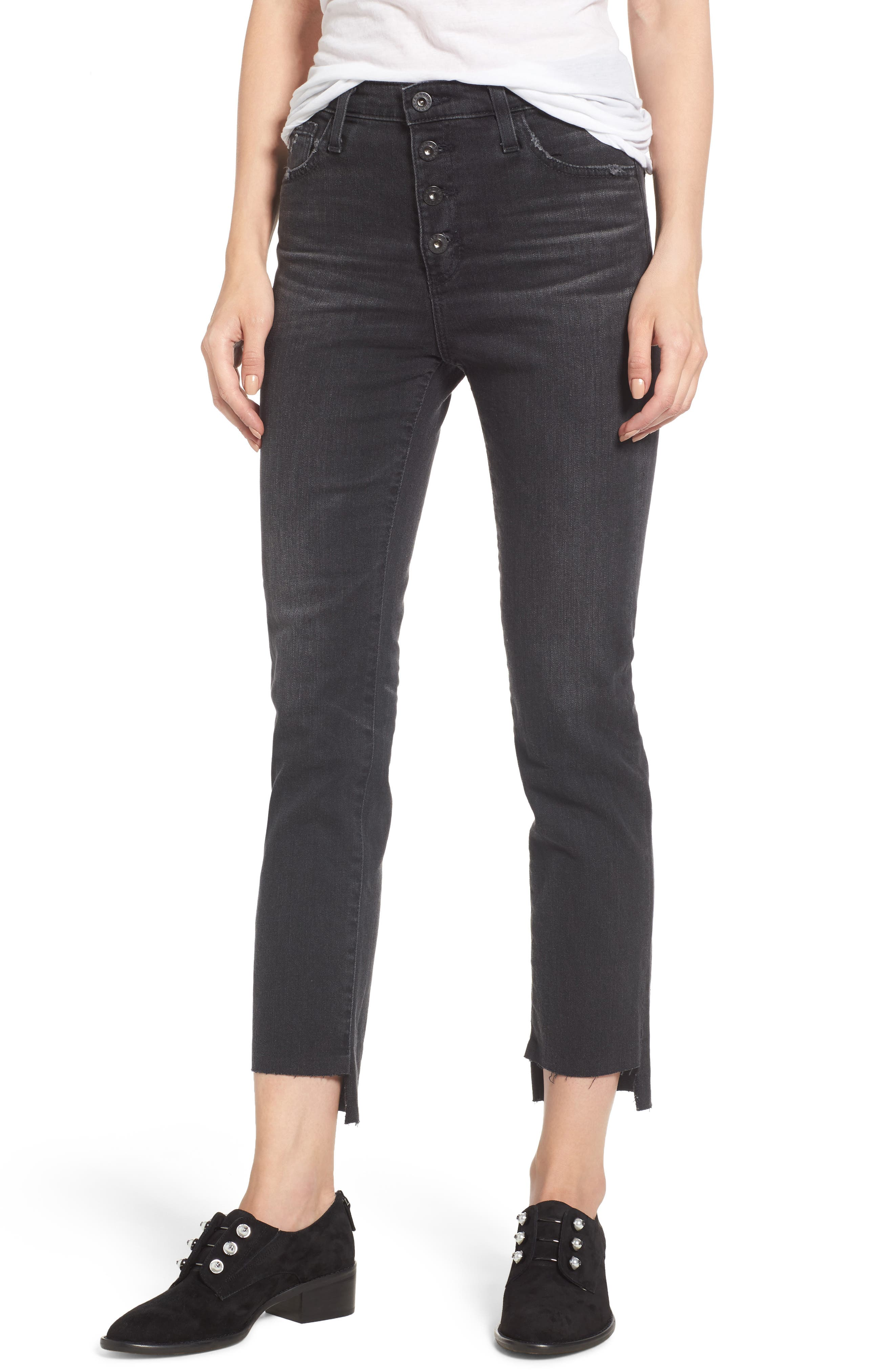 AG Isabelle High Waist Step Hem Jeans, Main, color, 419