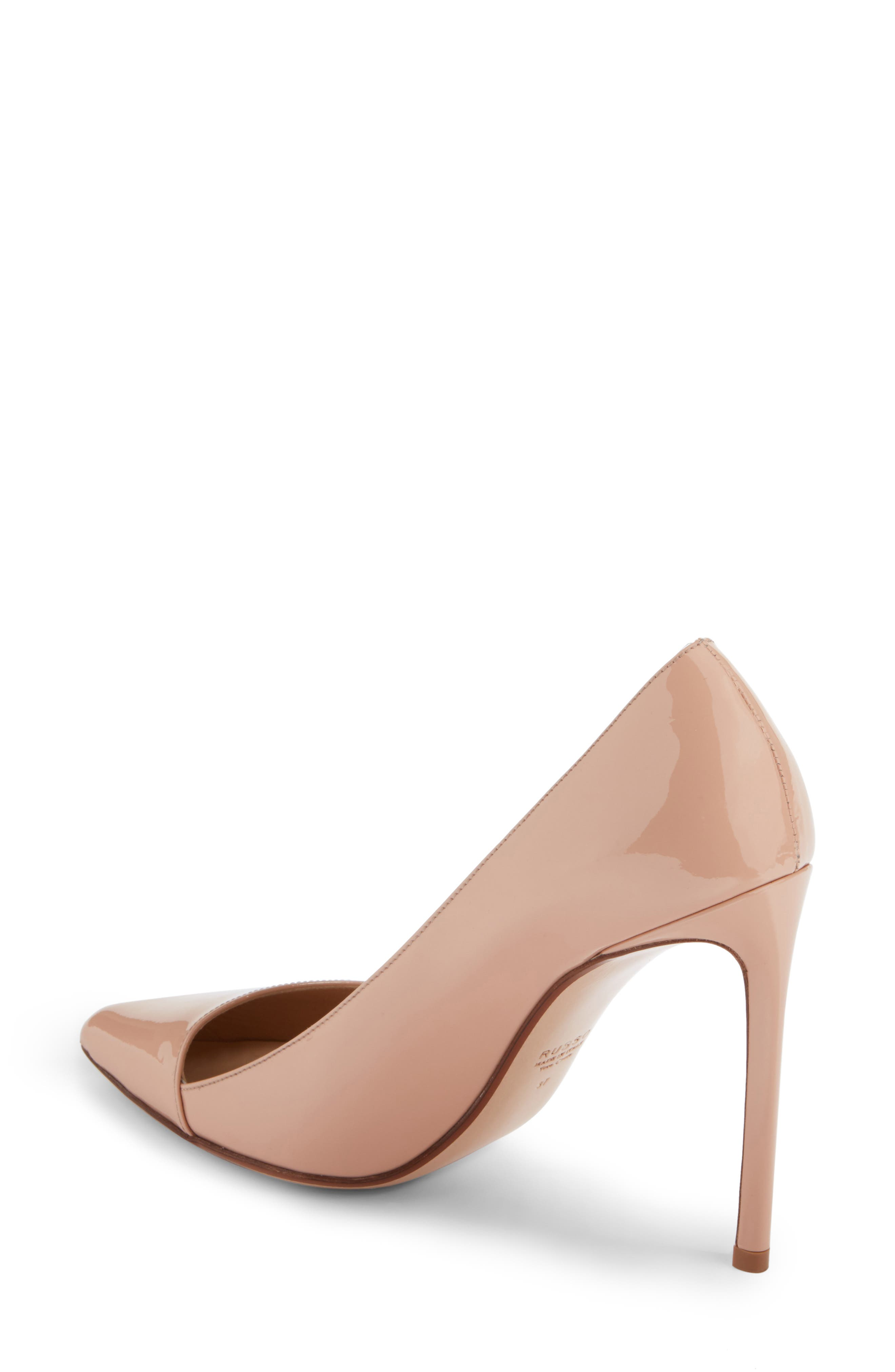 Pointy Toe Pump,                             Alternate thumbnail 2, color,                             BEIGE LEATHER