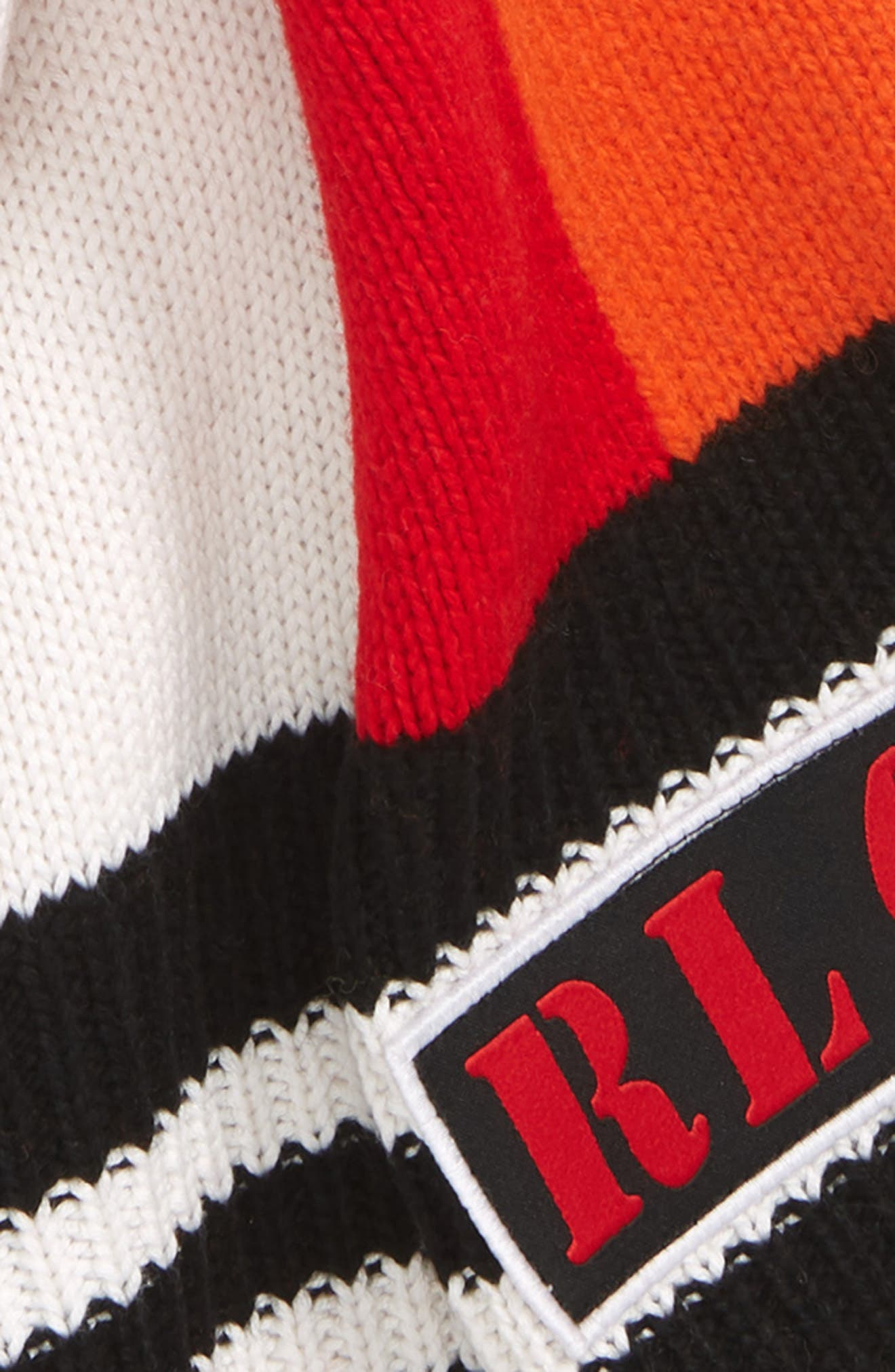 Stadium Scarf,                             Alternate thumbnail 3, color,                             BLACK/ RED/ CREAM