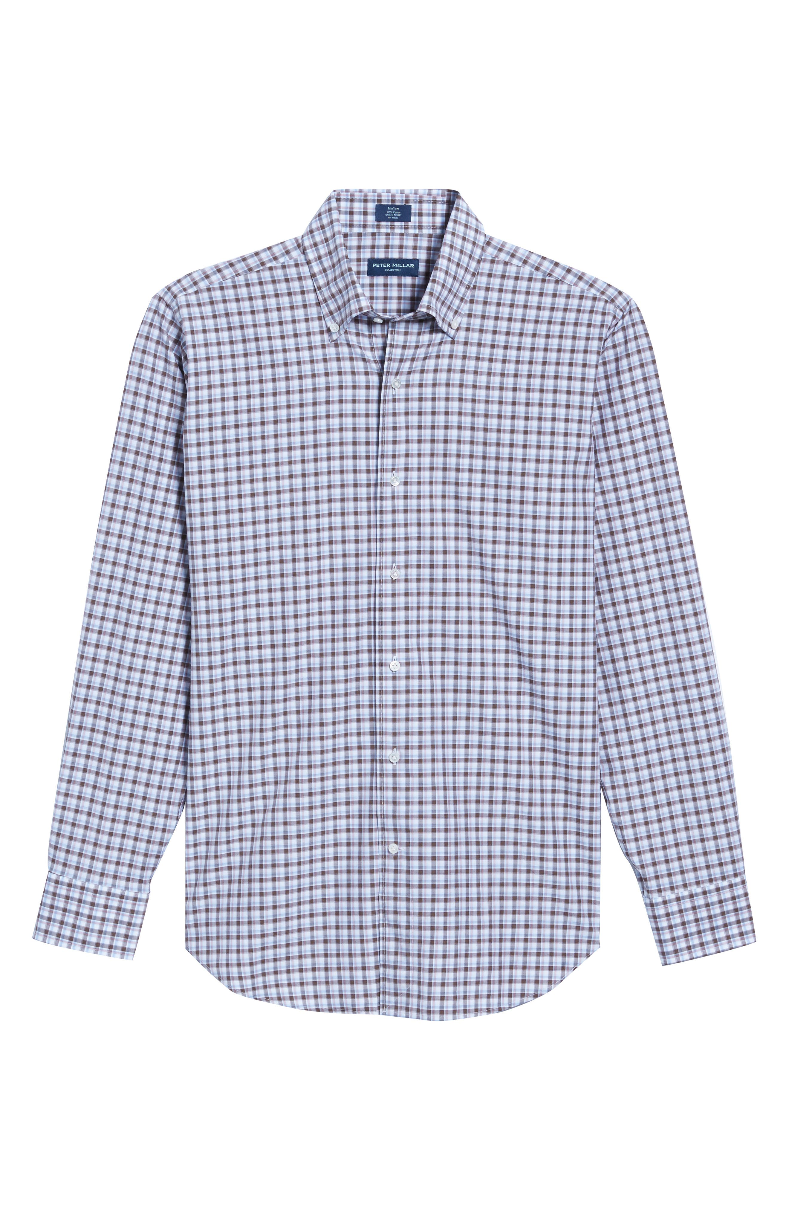 Peter Millar Northern Lights Regular Fit Check Sport Shirt,                             Alternate thumbnail 6, color,                             203