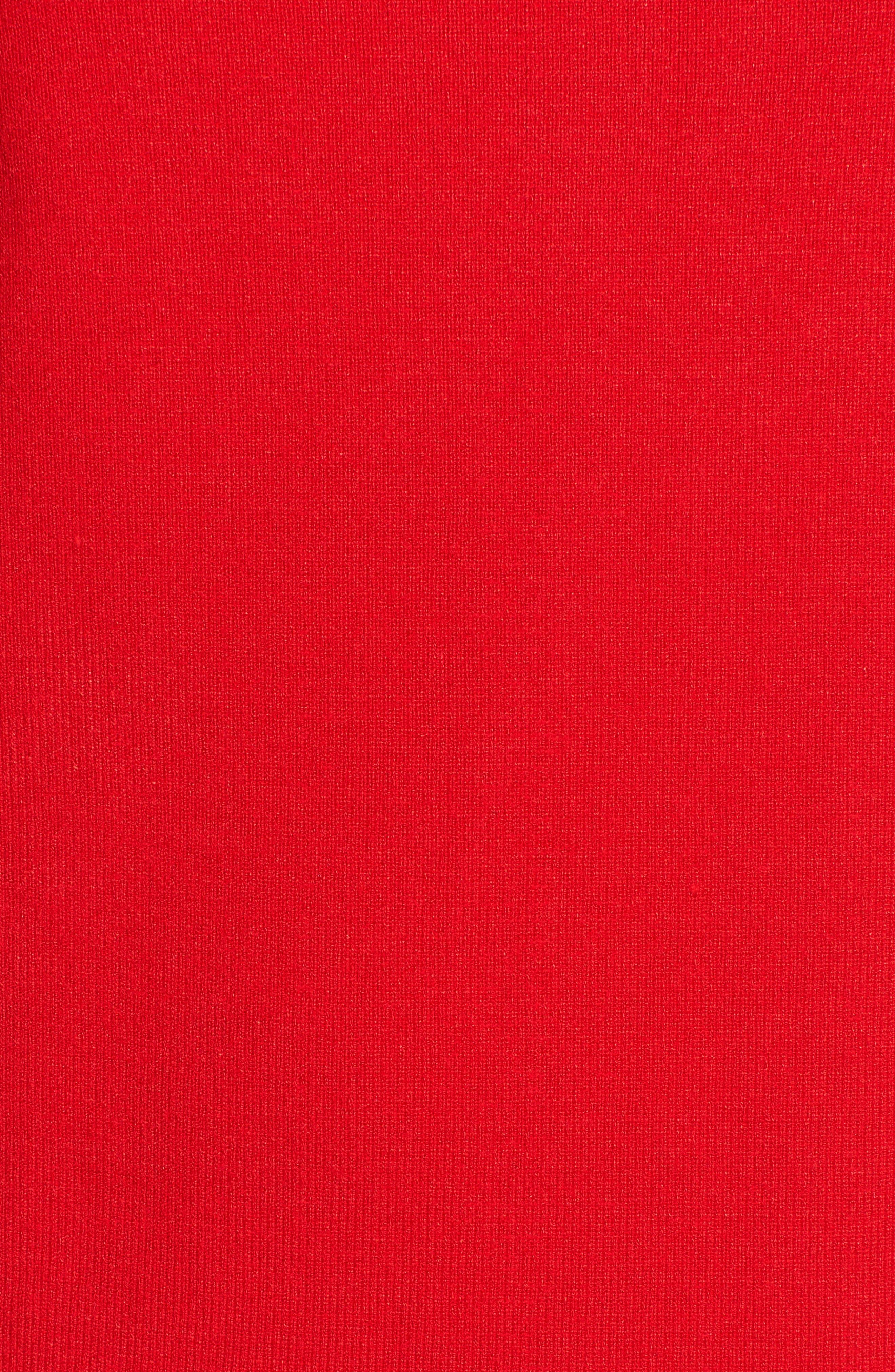 Ann Klein New York Stripe Border Knit Sheath Dress,                             Alternate thumbnail 13, color,