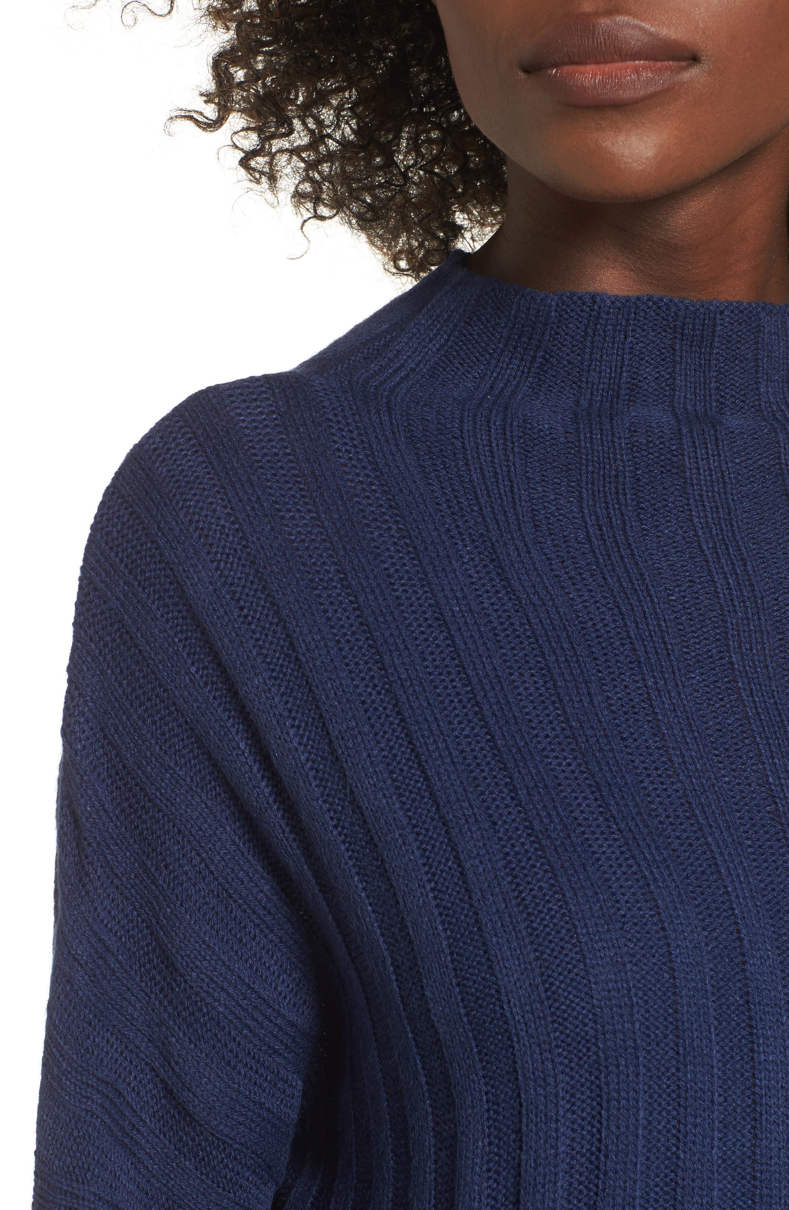 Wide Rib Mock Neck Sweater,                             Alternate thumbnail 11, color,