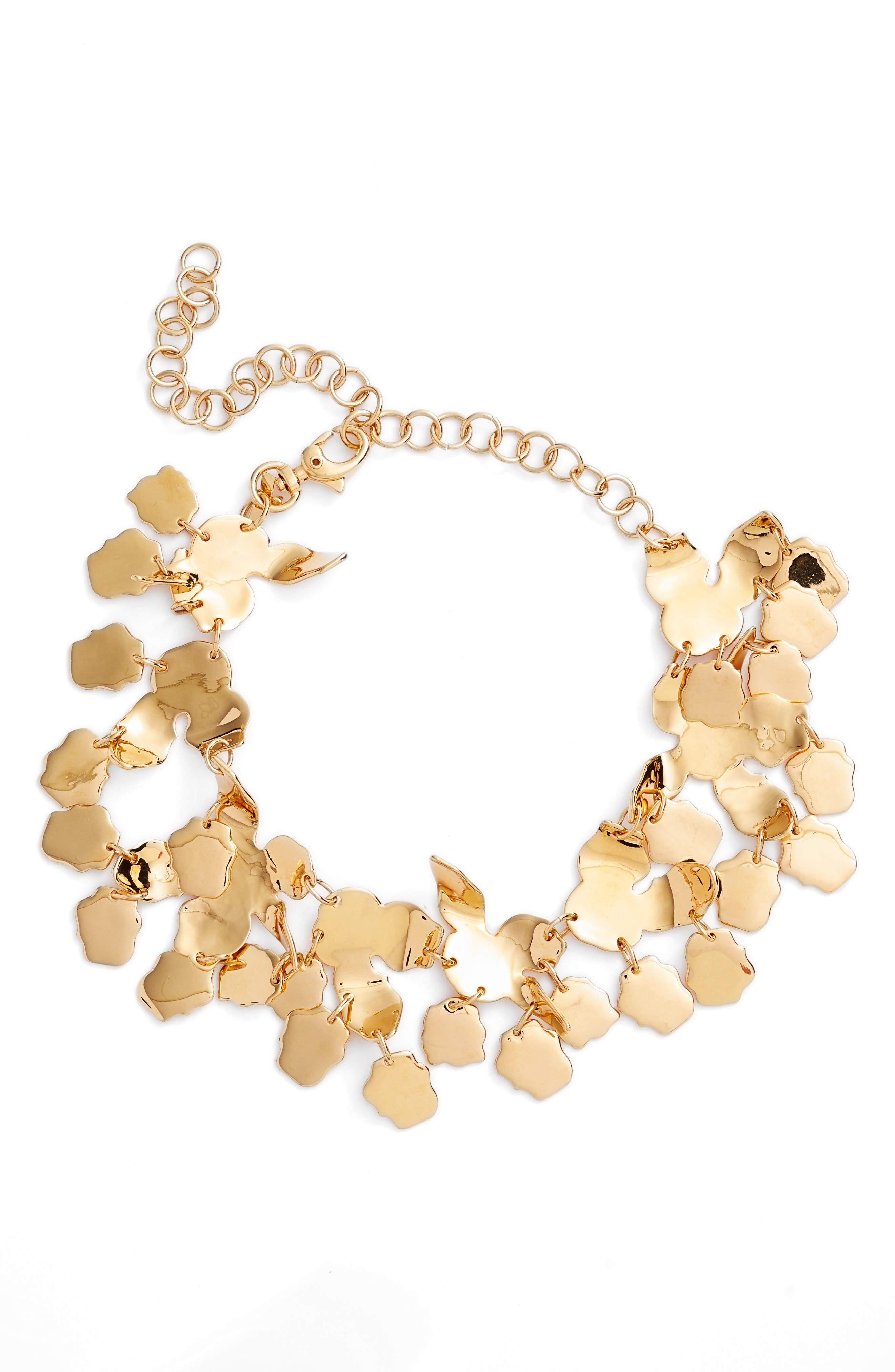 Golden Lily Necklace,                         Main,                         color, 710