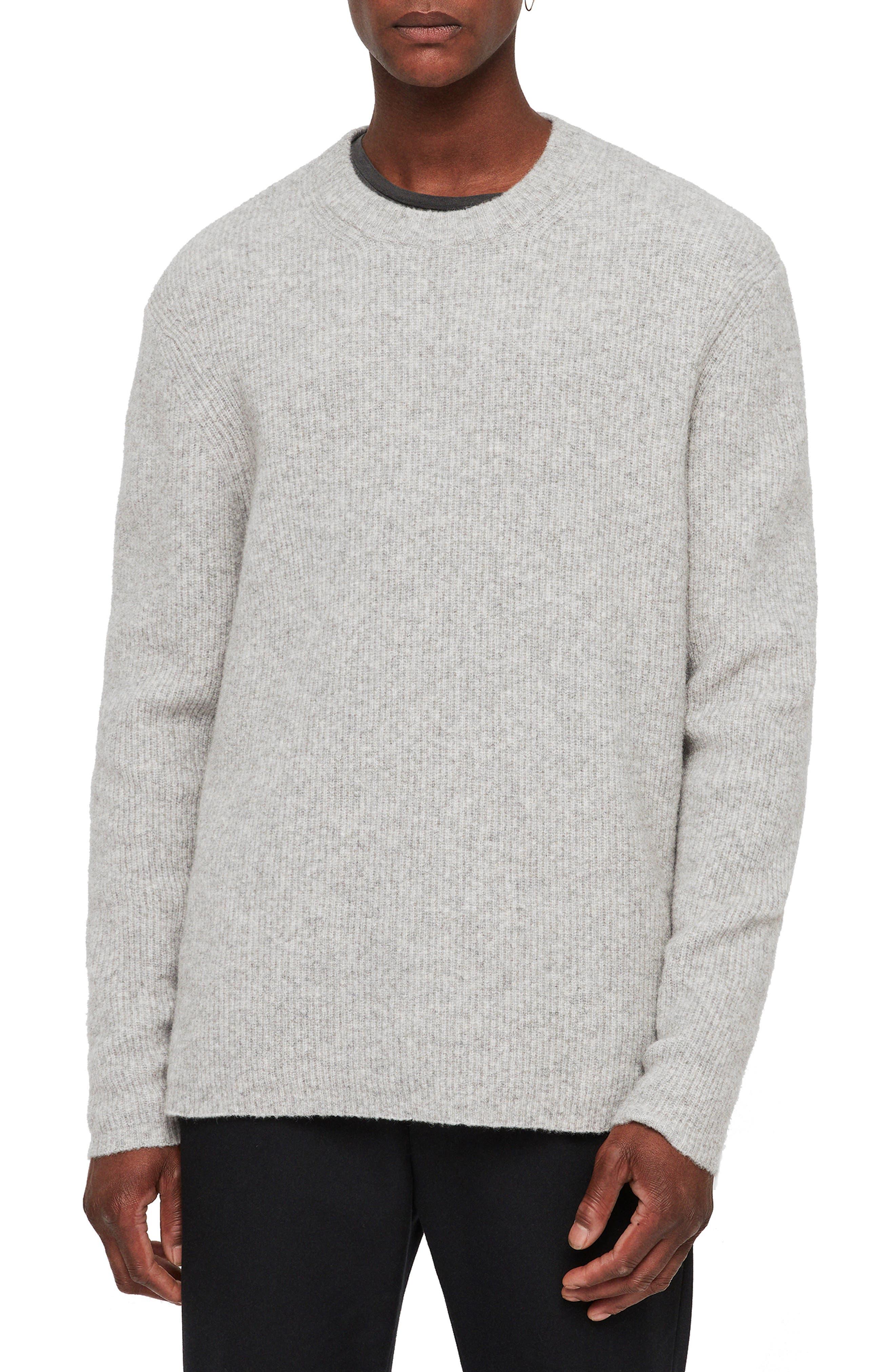 Path Wool Blend Sweater,                         Main,                         color, LIGHT GREY MARL