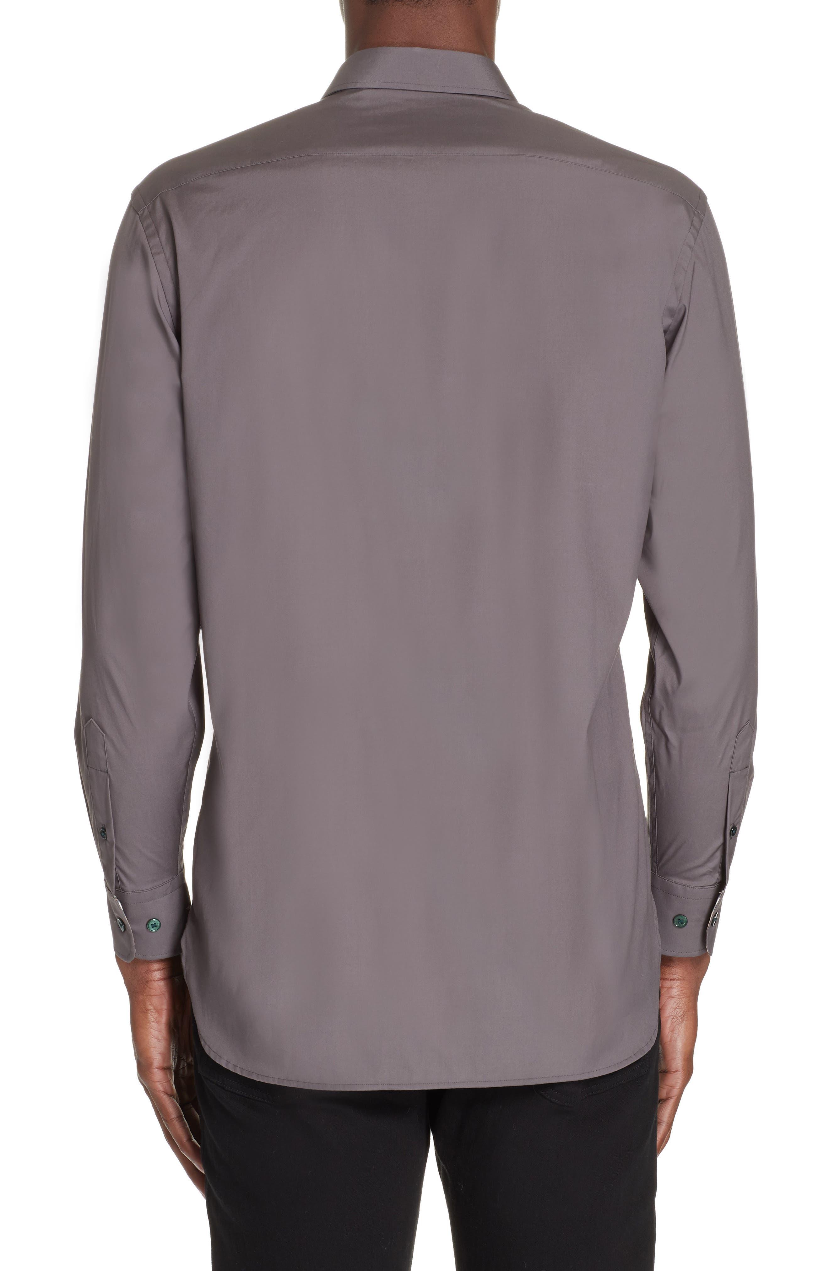 William Woven Sport Shirt,                             Alternate thumbnail 3, color,                             STONE GREY