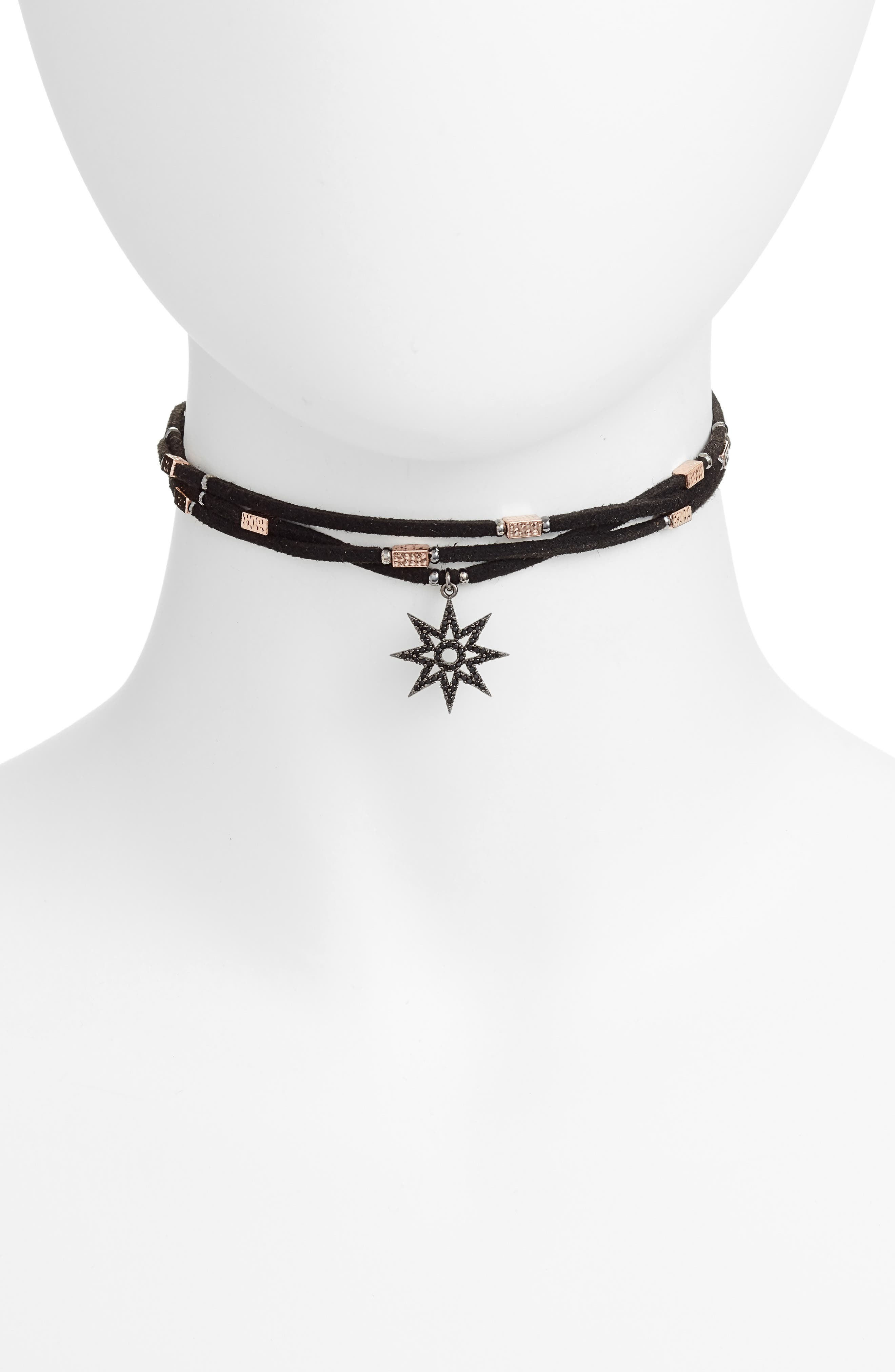 Star Charm Choker,                             Main thumbnail 1, color,                             001